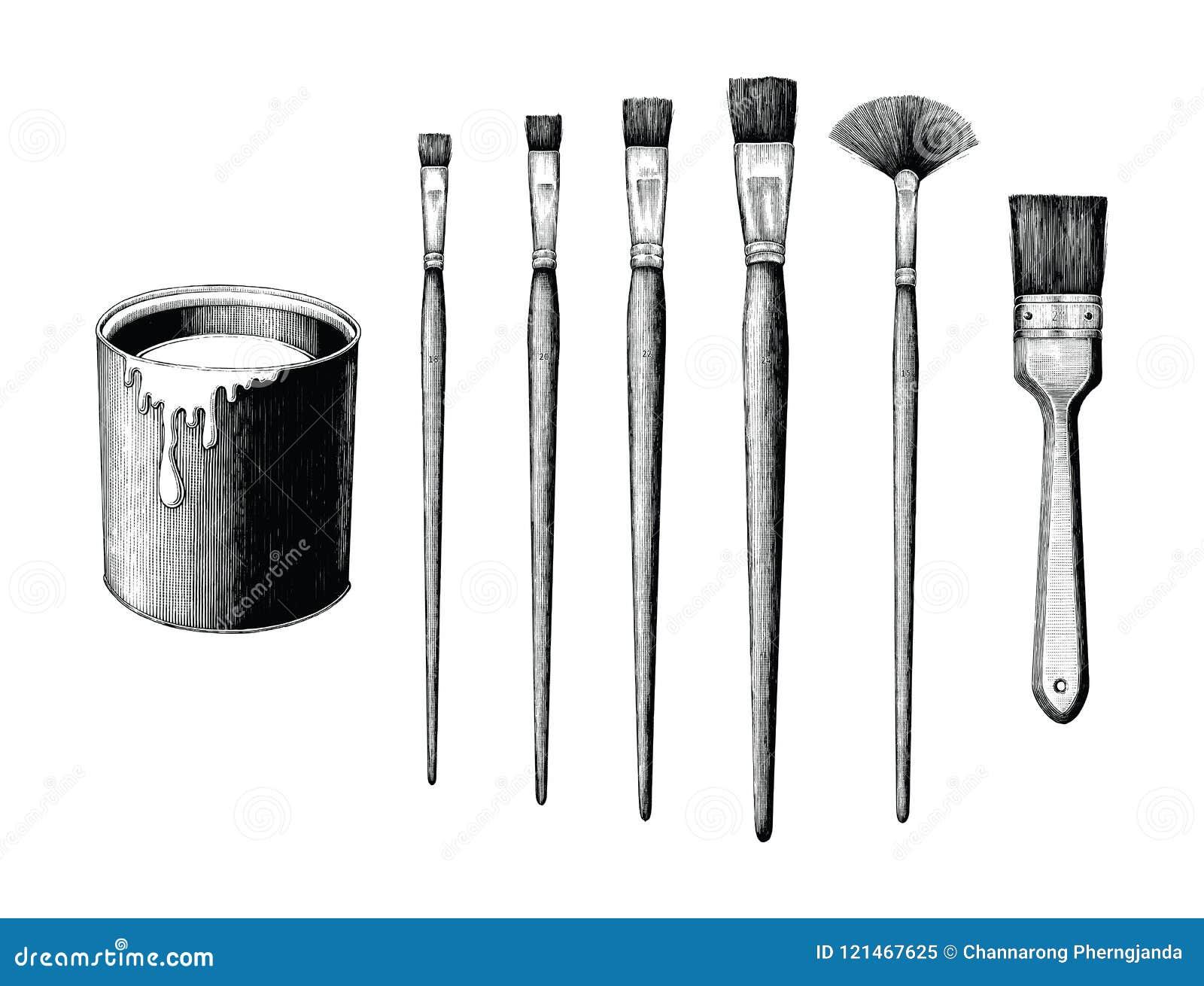 L insieme d annata e la pittura dei pennelli possono passare il clipart del disegno è