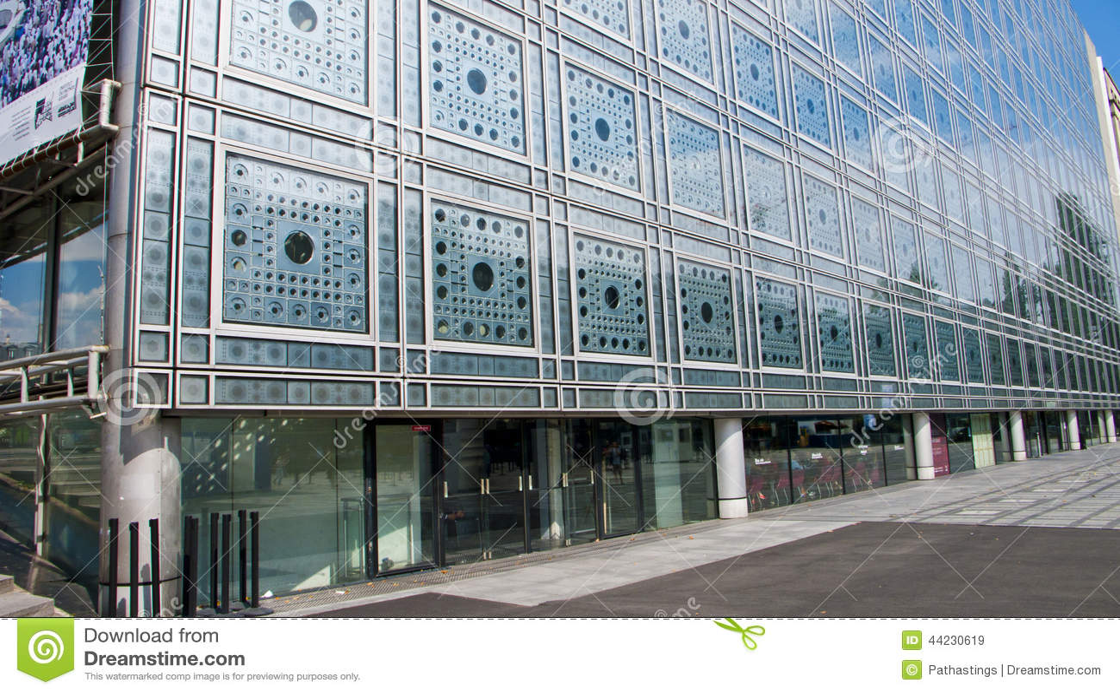 L'Institut Du Monde Arabe París Francia Imagen de archivo ...