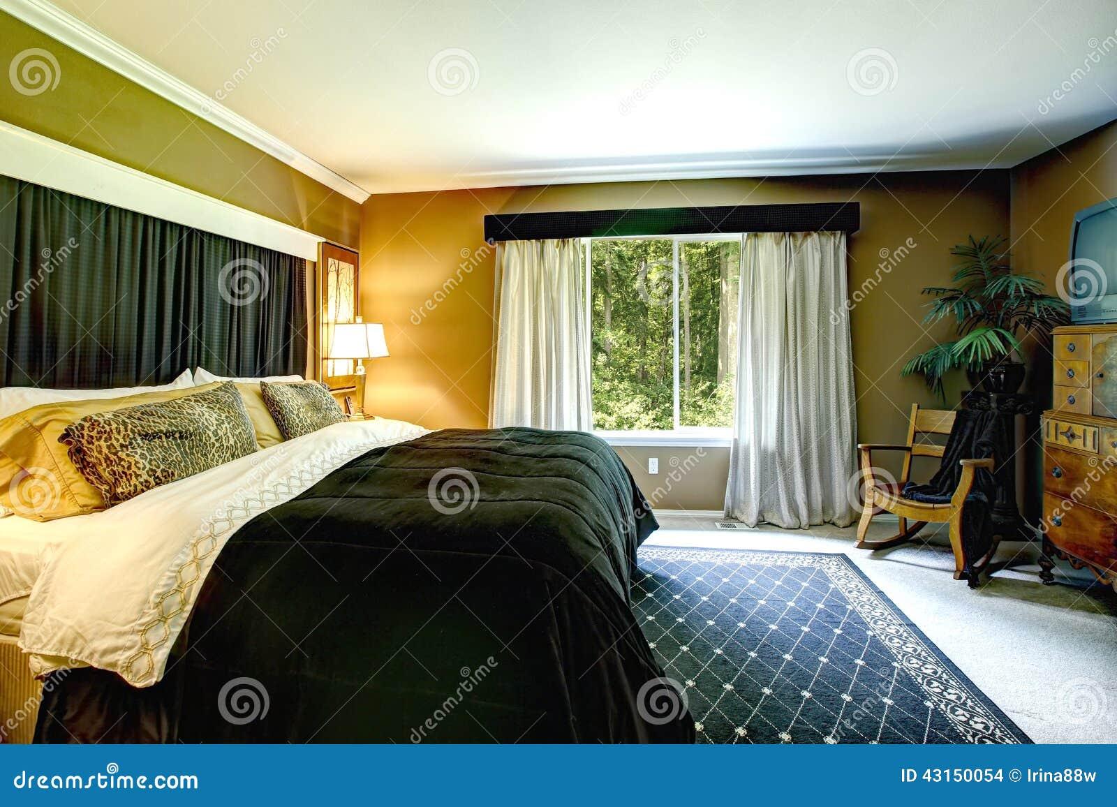 L 39 int rieur l gant de chambre coucher de brown avec le for Interieur de chambre a coucher