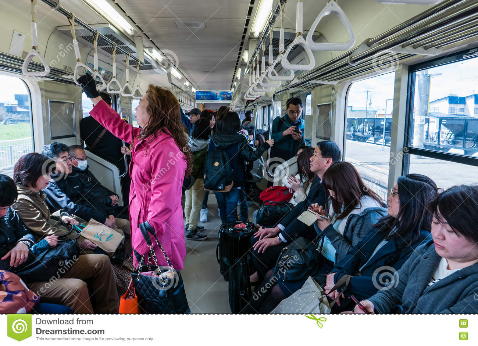 L intérieur d un chariot de train dans Aomori