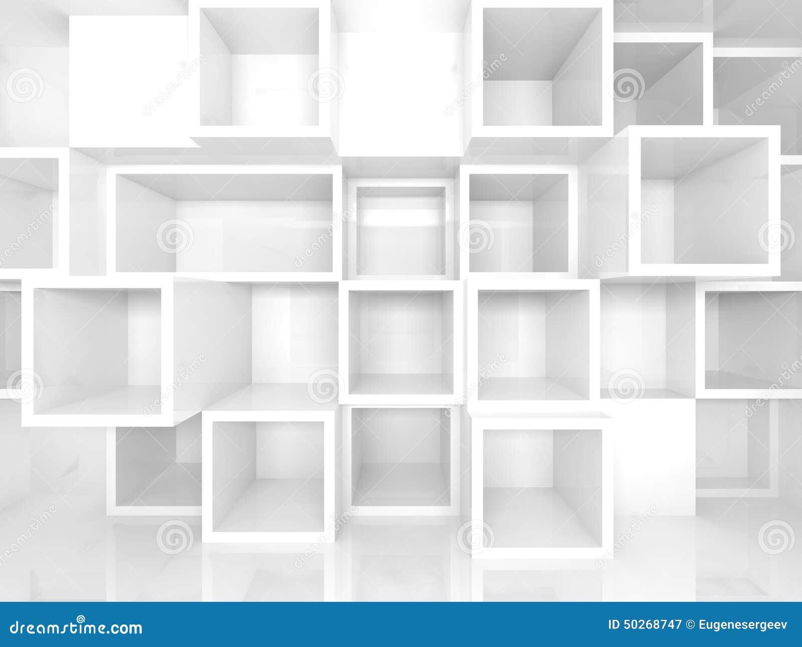 L 39 int rieur 3d vide avec la place blanche rayonne sur le mur illustration stock image 50268747 - Kubus interieurs ...