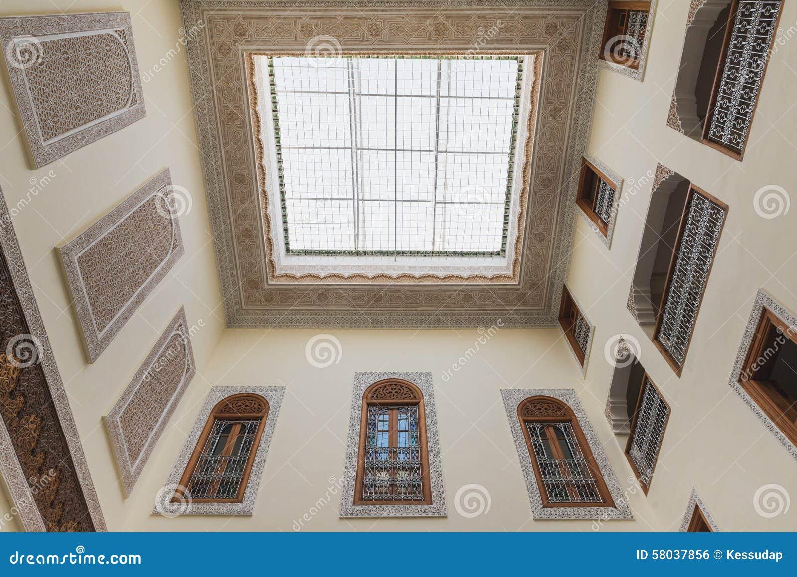 L 39 int rieur de la maison dans le style arabe a le dessus for Interieur de la maison