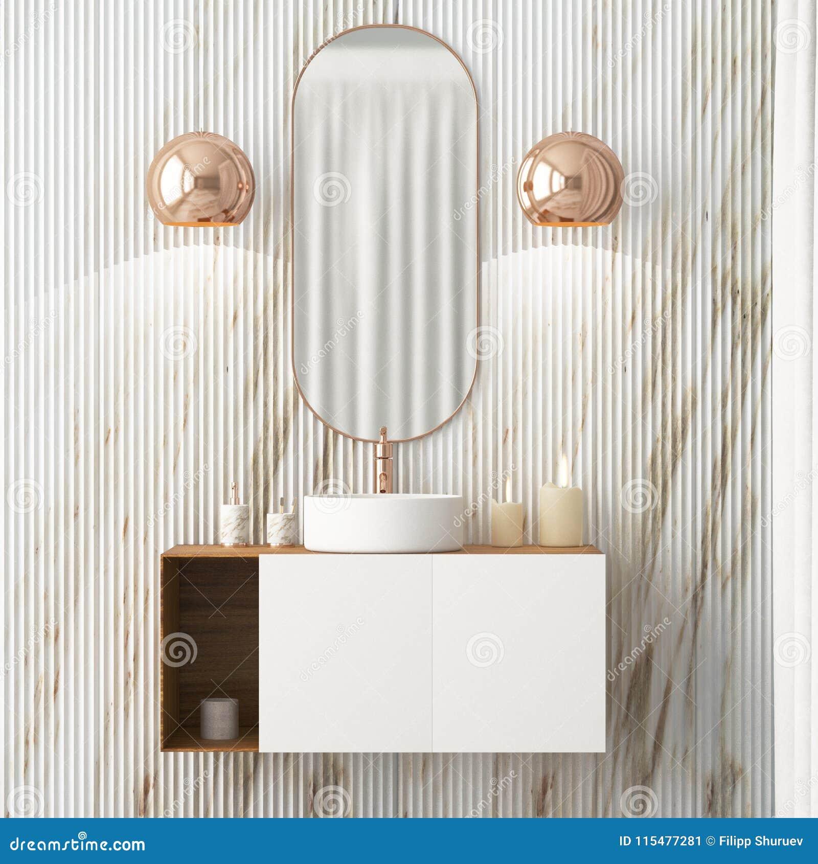 L\'intérieur De La Salle De Bains Est En Style D\'Art Deco ...