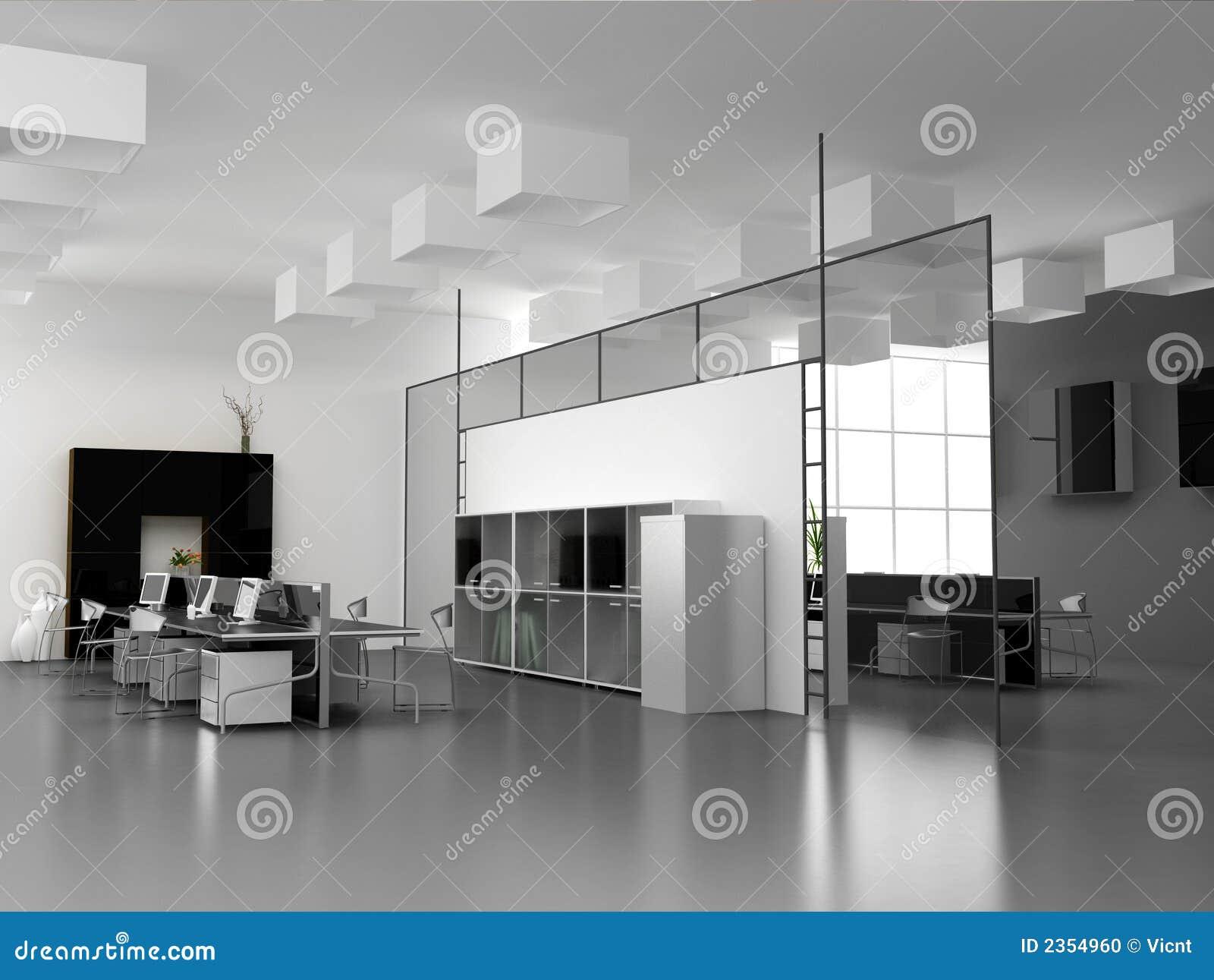 L intérieur moderne de bureau illustration stock