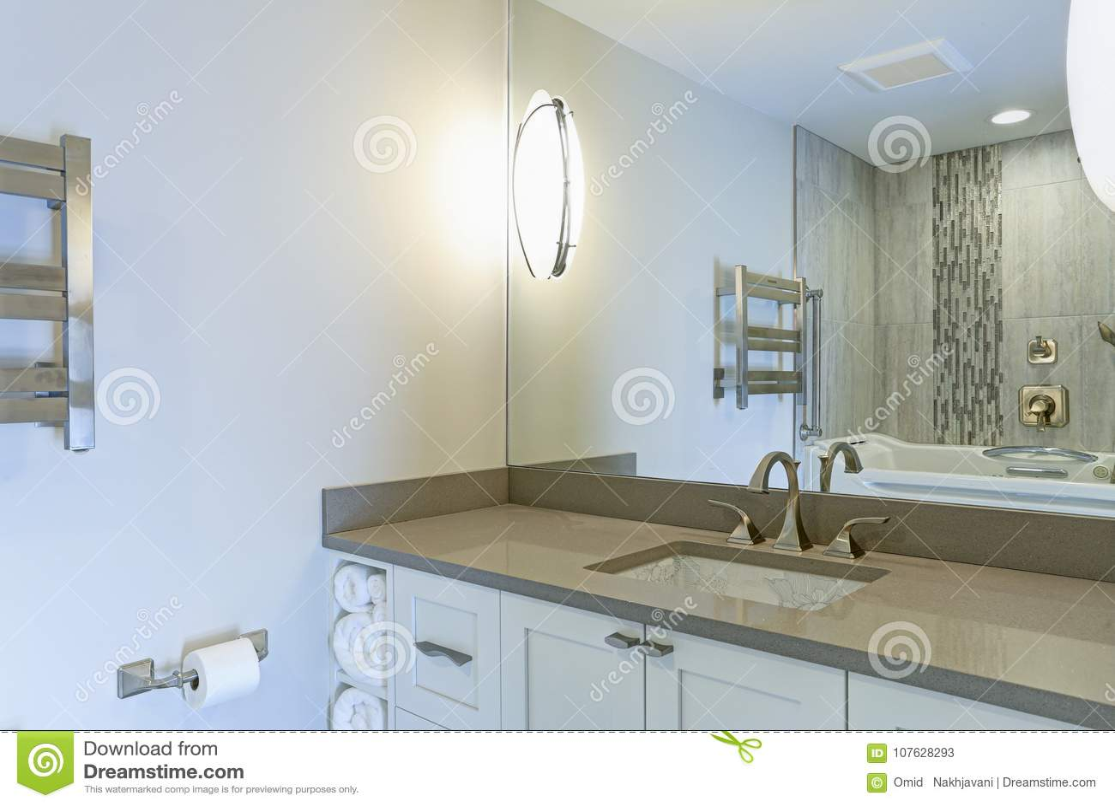 L intérieur moderne de salle de bains revendique l évier de sous-compteur d impression de Chinois