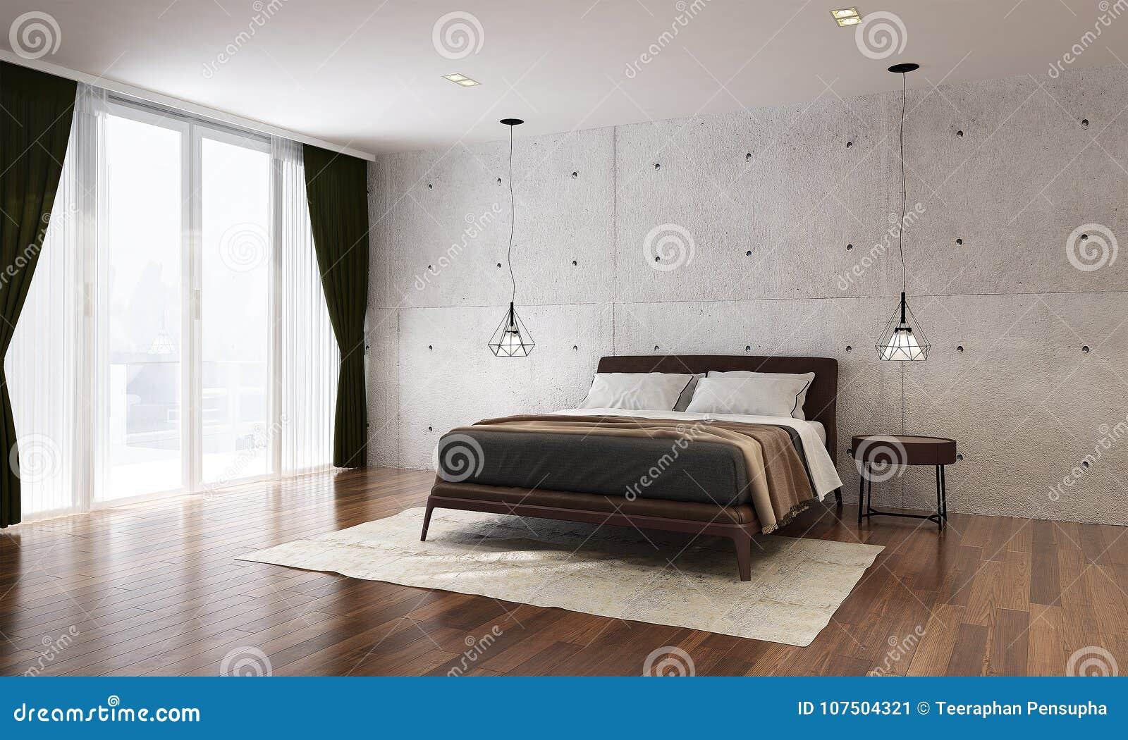 L\'interior Design Del Fondo Moderno Del Muro Di Cemento E Della ...