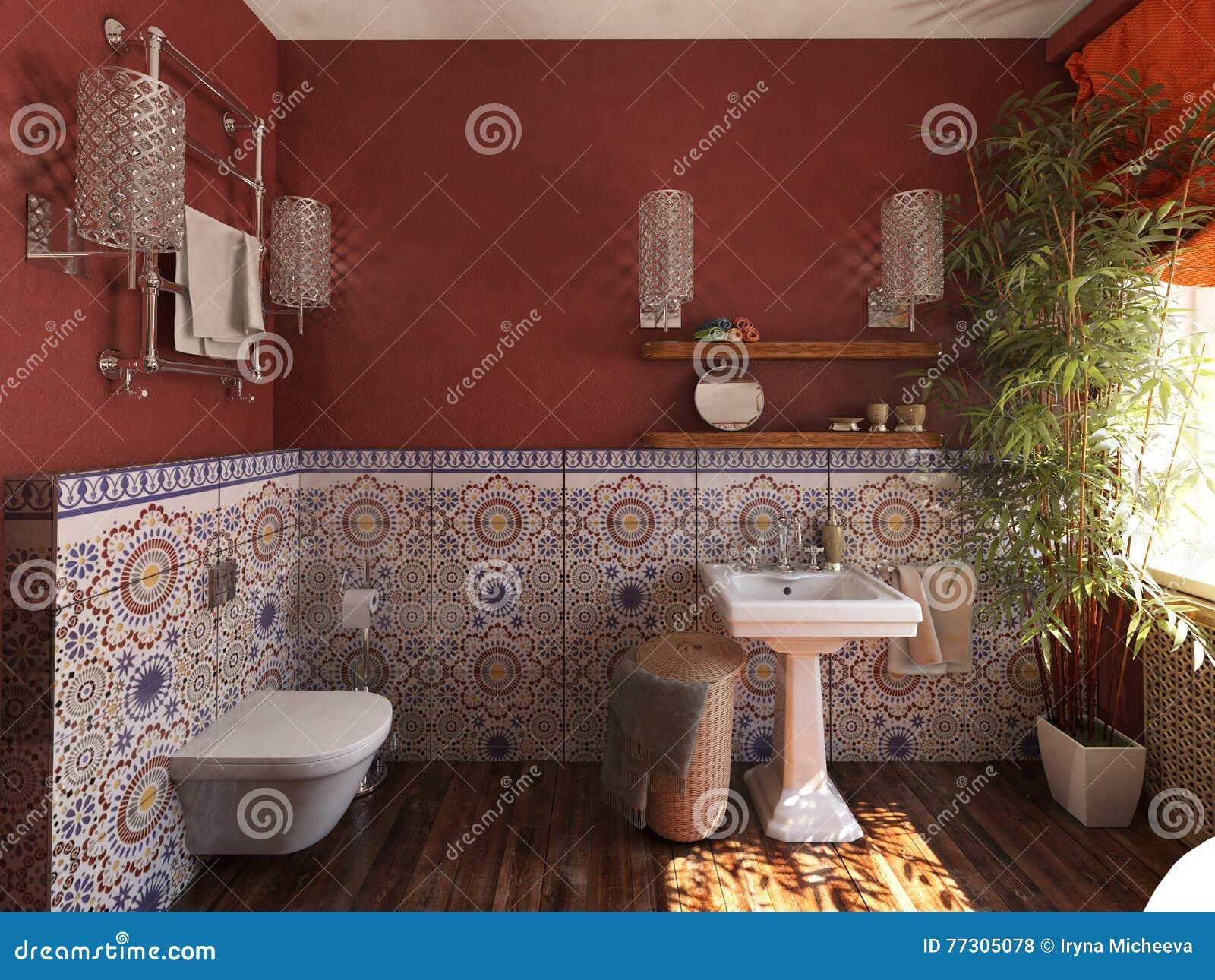 L interno del bagno nello stile marocchino fotografia stock