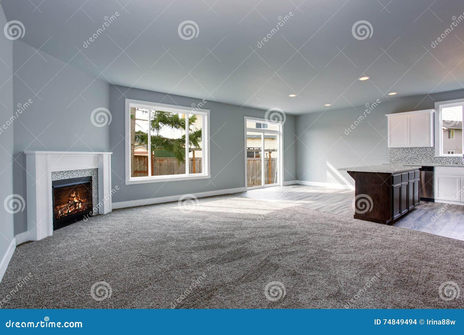 Interni Casa Grigio : L interno grigio della casa del salone si è collegato con la