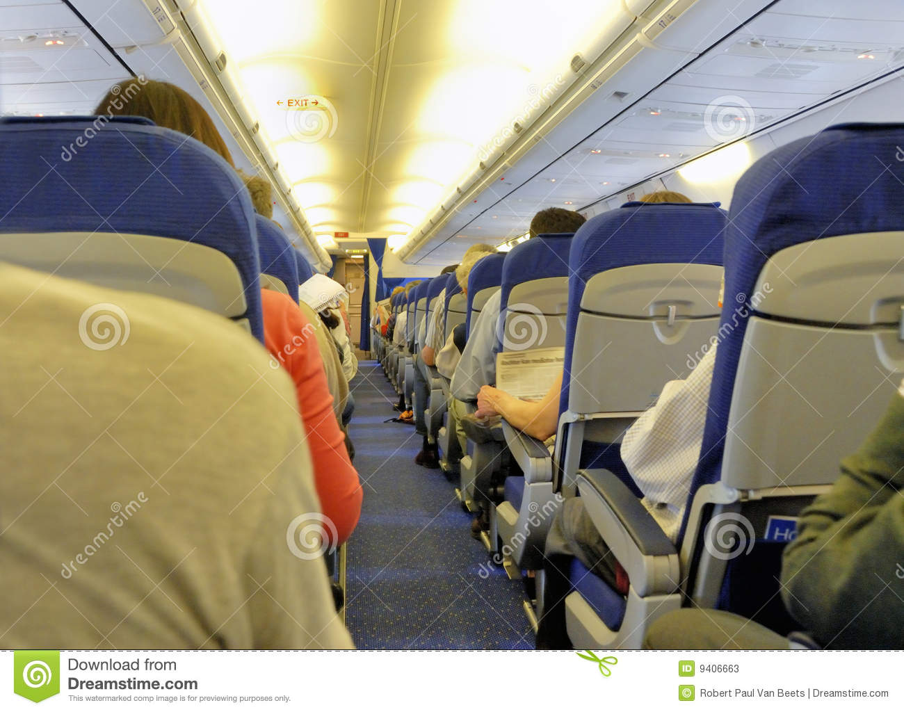 L 39 int rieur d 39 un avion photos stock image 9406663 for Interieur d avion