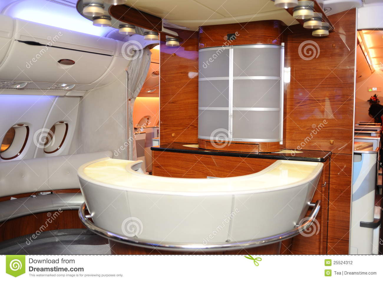 L 39 int rieur de d 39 airbus a380 photographie stock image for Interieur airbus a380
