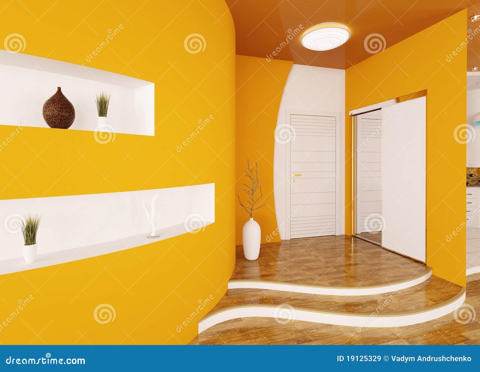 l 39 int rieur moderne du hall d 39 entr e 3d rendent images libres de droits image 19125329. Black Bedroom Furniture Sets. Home Design Ideas