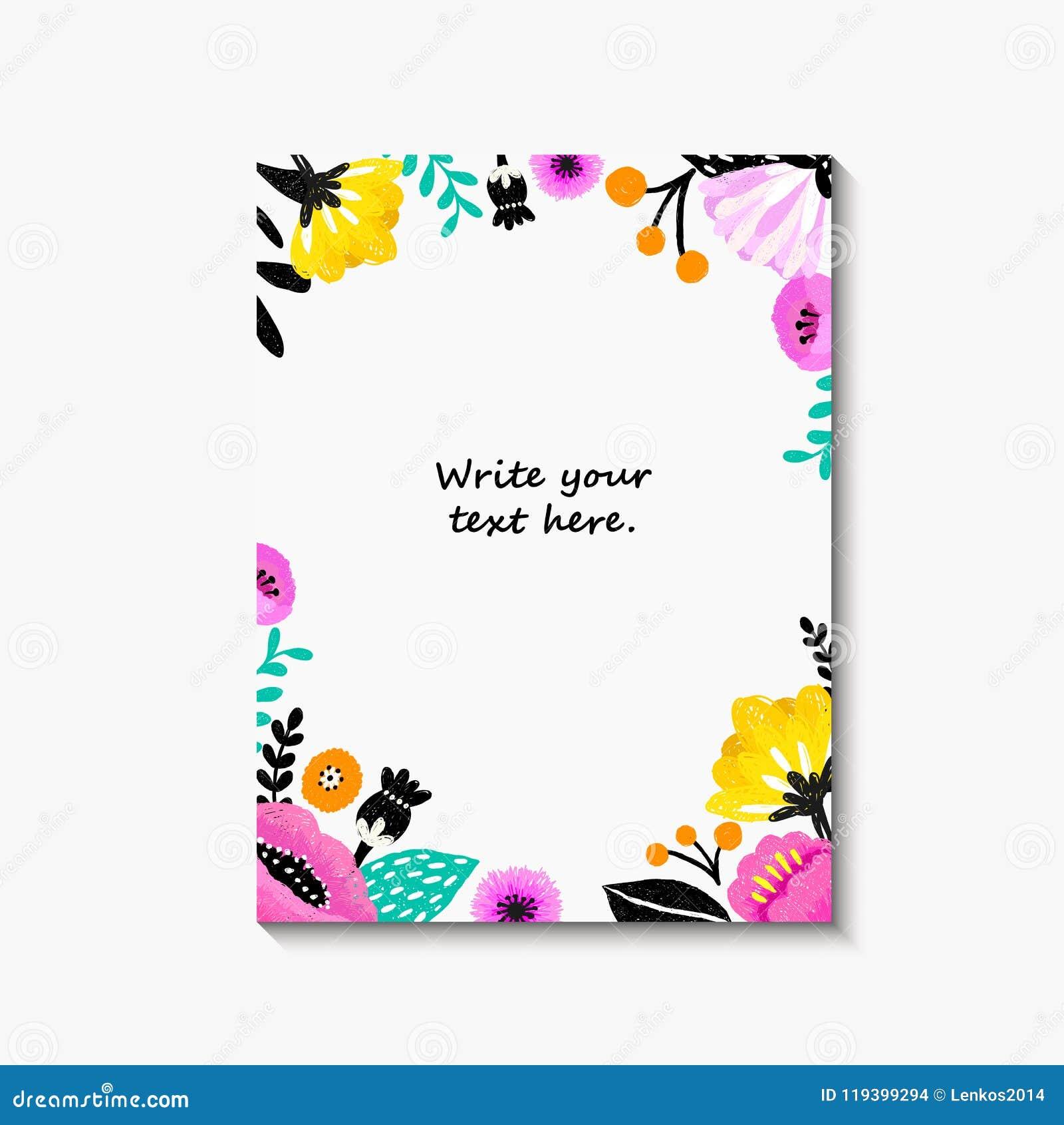 L Invitation De Mariage Ou La Carte D Anniversaire Florale