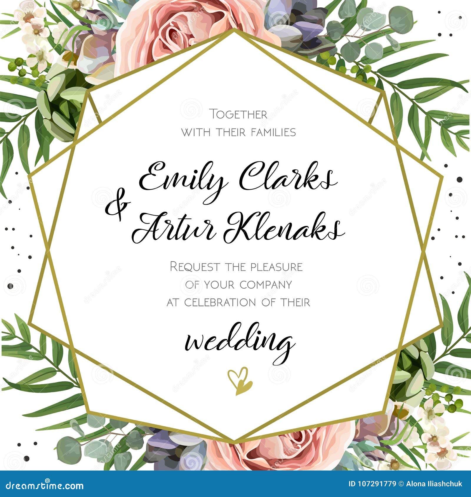 L invito di nozze, floreale invita la progettazione di carta: Lavanda pi della pesca