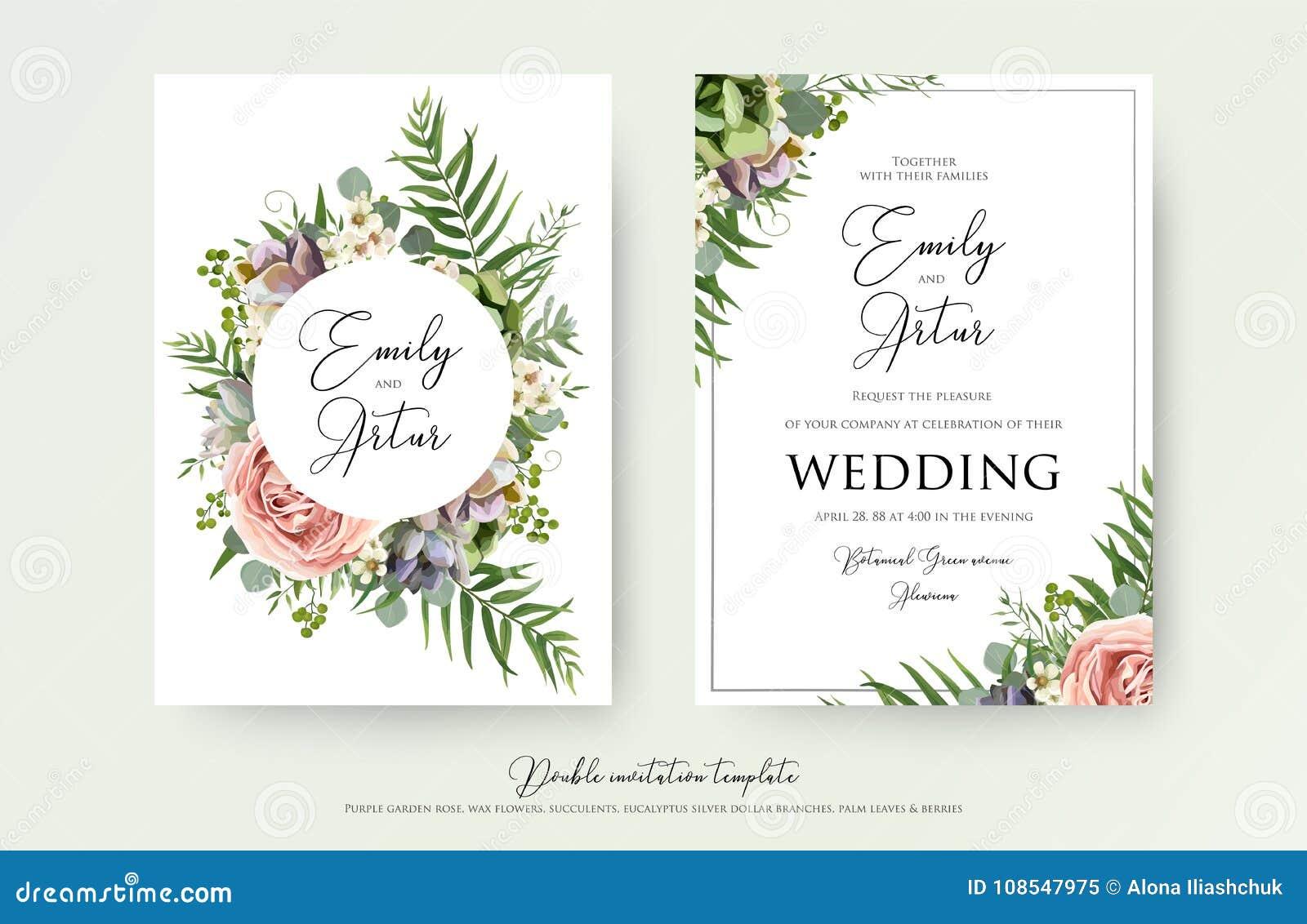 L invito floreale di nozze elegante invita, grazie, la carta v del rsvp