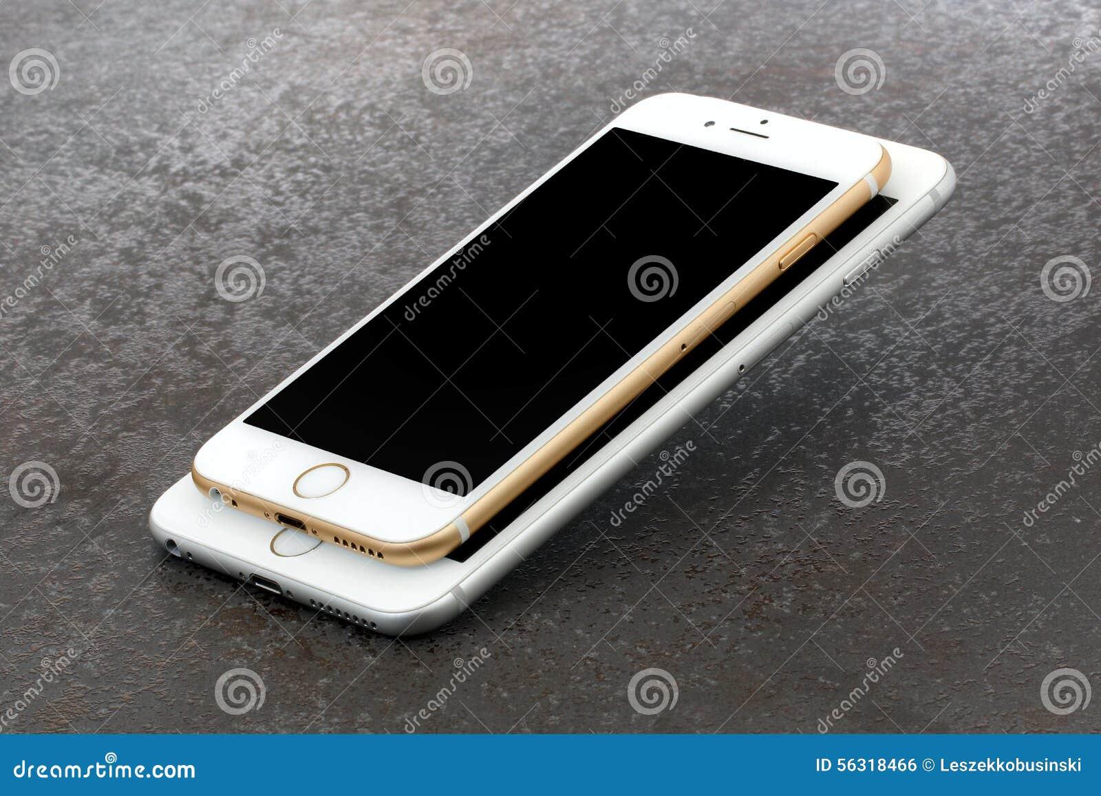 l 39 iphone 6 de diff rence de taille et iphone 6 plus photo ditorial image 56318466. Black Bedroom Furniture Sets. Home Design Ideas