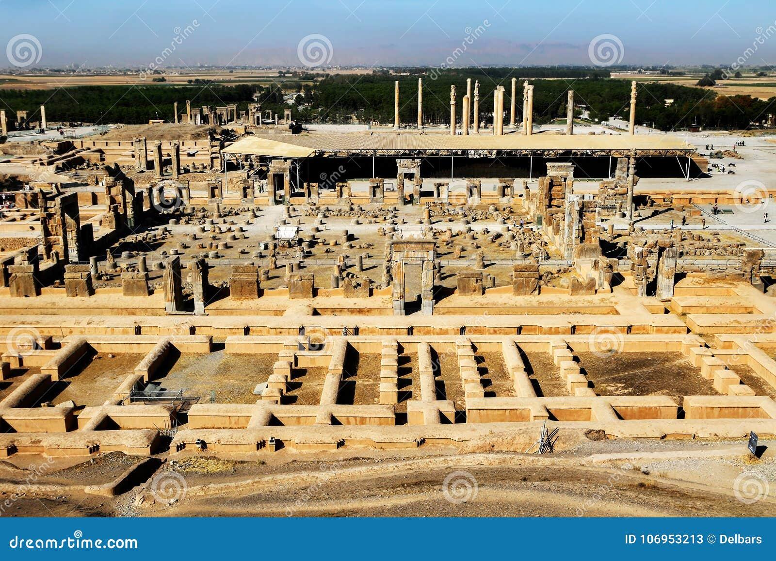 L iran Persepolis è la capitale del regno antico dell achemenide Rovine antiche persia Vista da sopra