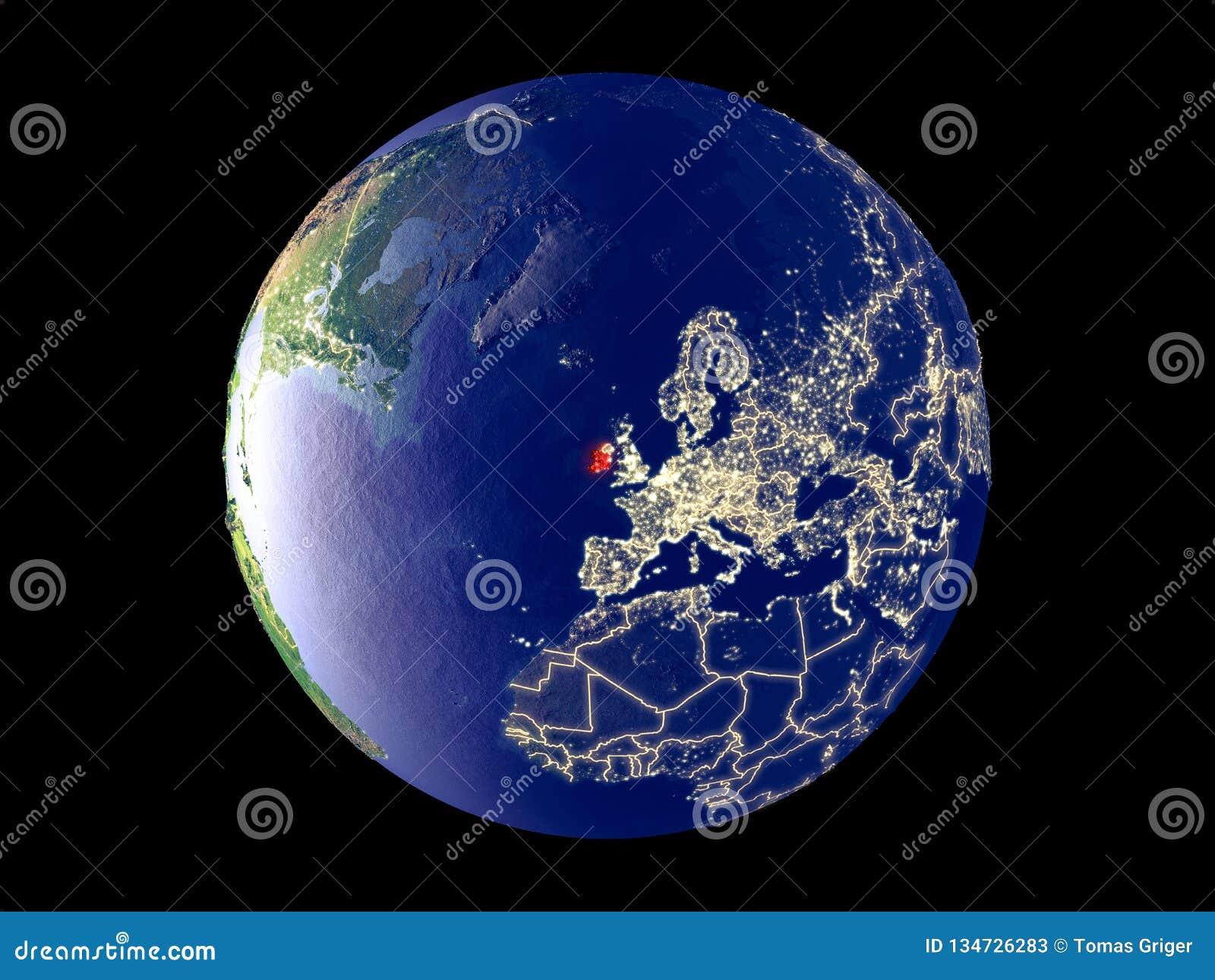 L Irlanda su terra da spazio