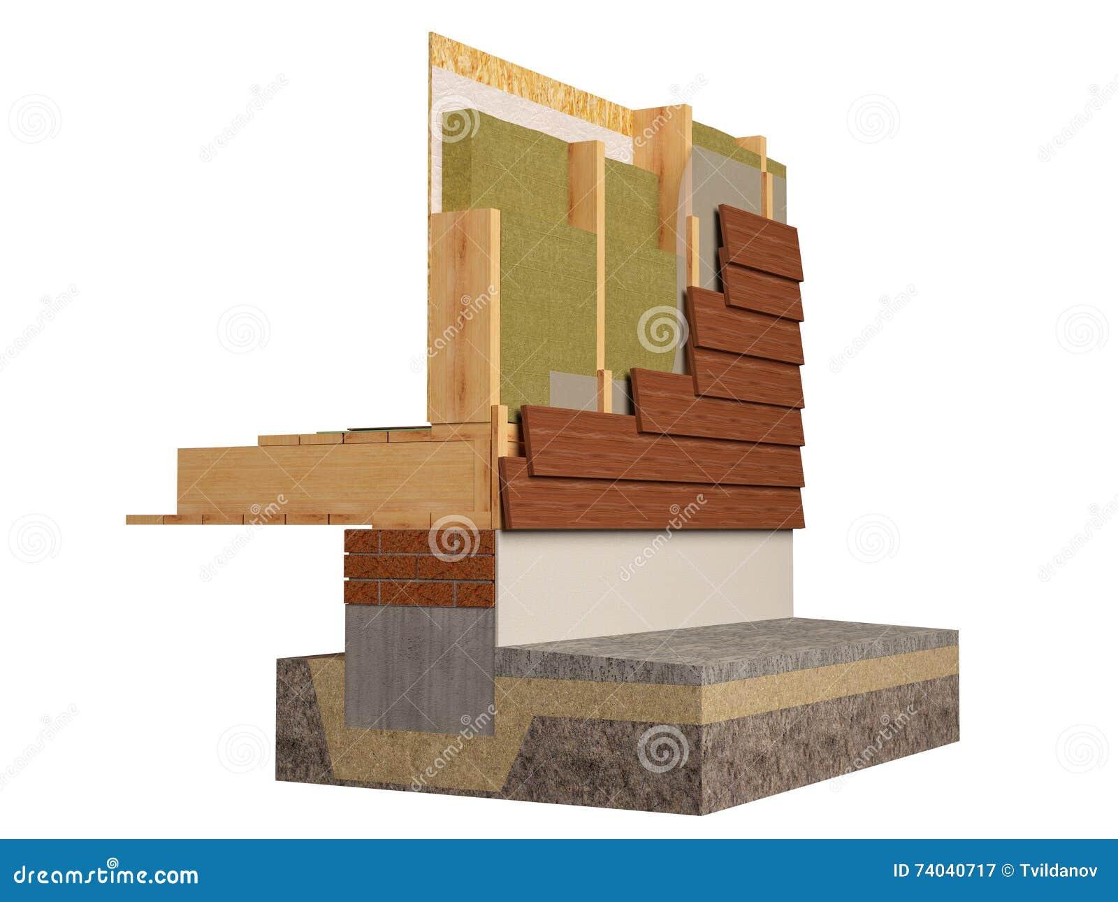 L 39 isolamento del legno della casa di inquadratura 3d for Inquadratura del tetto del padiglione