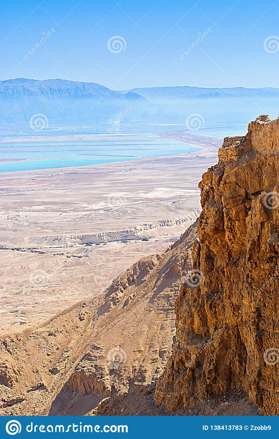 L israel Les montagnes, la mer morte et le désert