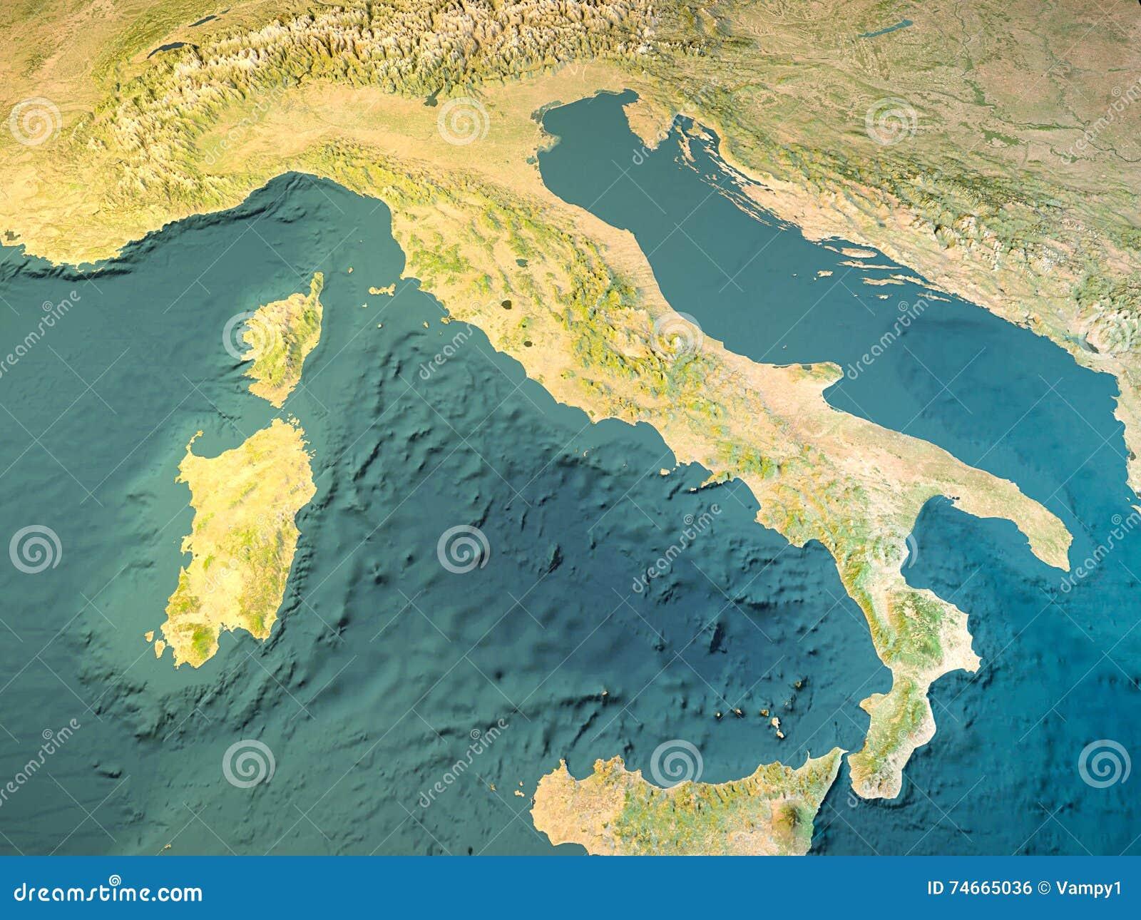 Cartina Sicilia Satellite.L Italia Mappa Fisica Vista Satellite Mappa Rappresentazione 3d Illustrazione Di Stock Illustrazione Di Colline Sicily 74665036