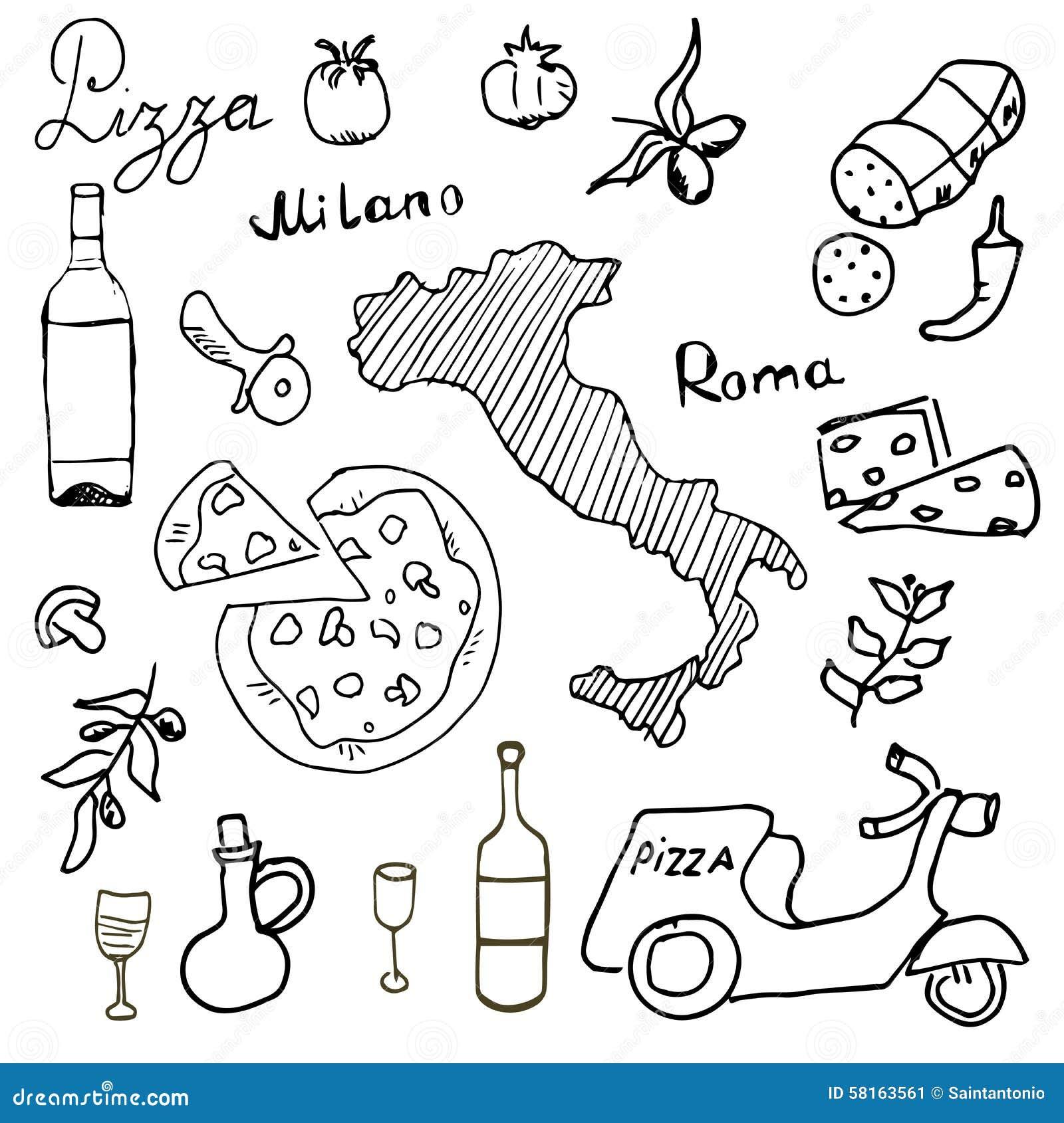 Résultat d'images pour dessin italie colorier