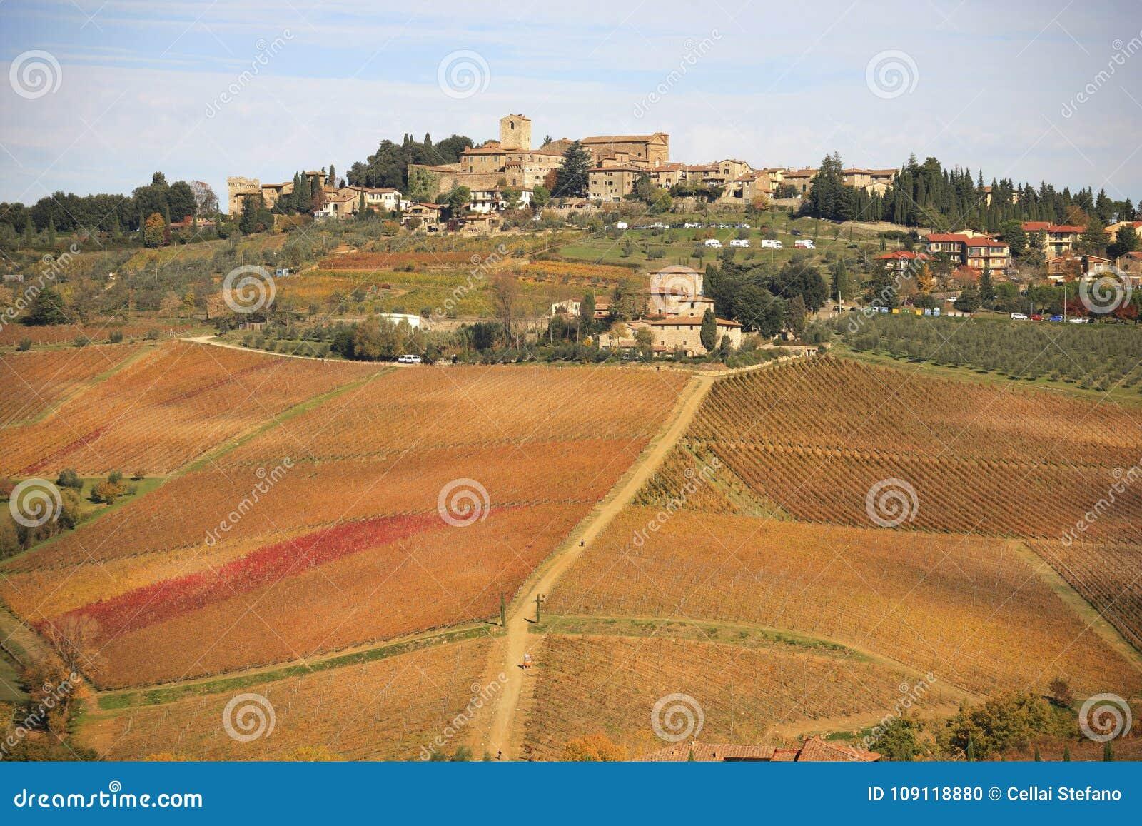 L Italie, Toscane, Panzano dans le chianti et le vignoble