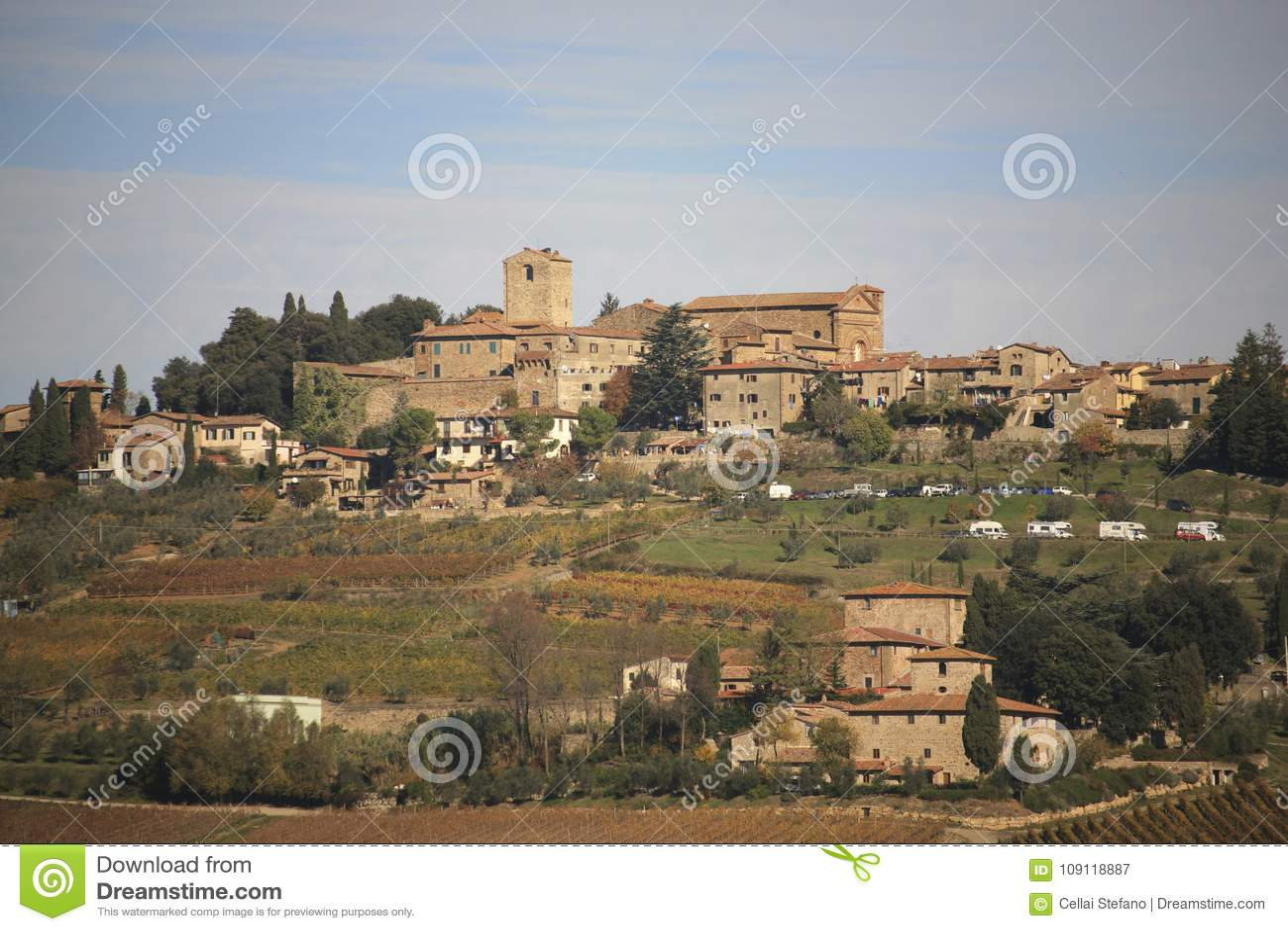L Italie, Toscane, zone de chianti, Panzano dans le village de chianti