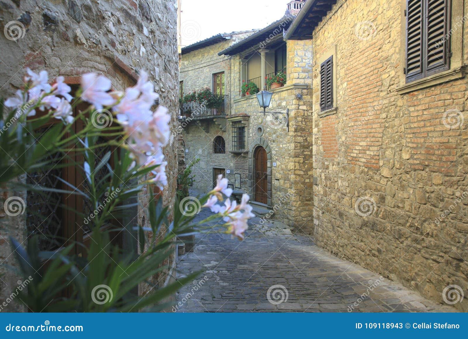 L Italie, Toscane, zone de chianti, village de Montefioralle