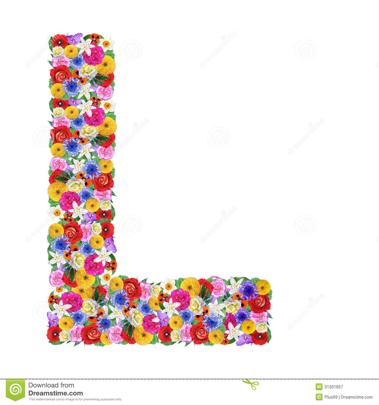 Letter Of The Alphabet In Different Flowers Royalty Free Stock ...