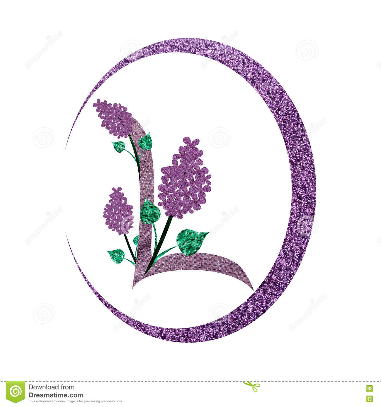 l letter logo with lilac flowers stock illustration illustration of letter decoration 72685105. Black Bedroom Furniture Sets. Home Design Ideas