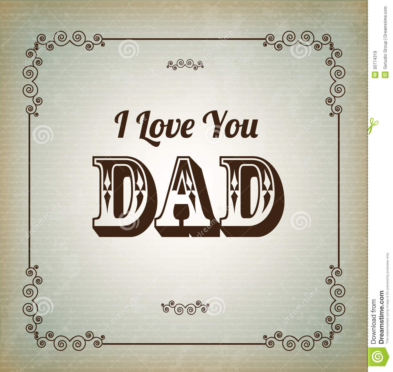 l love you dad stock vector illustration of retro fathers 30774319