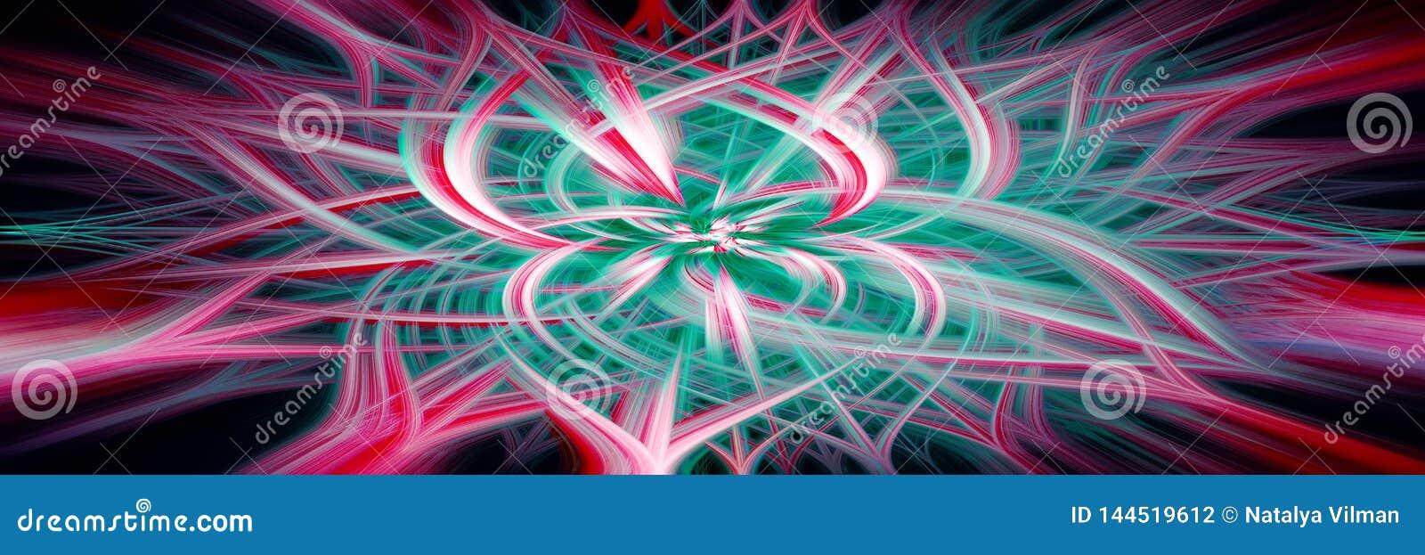?l?ment abstrait de fond Concept de technologie informatique Multicolore sur le noir Fond panoramique