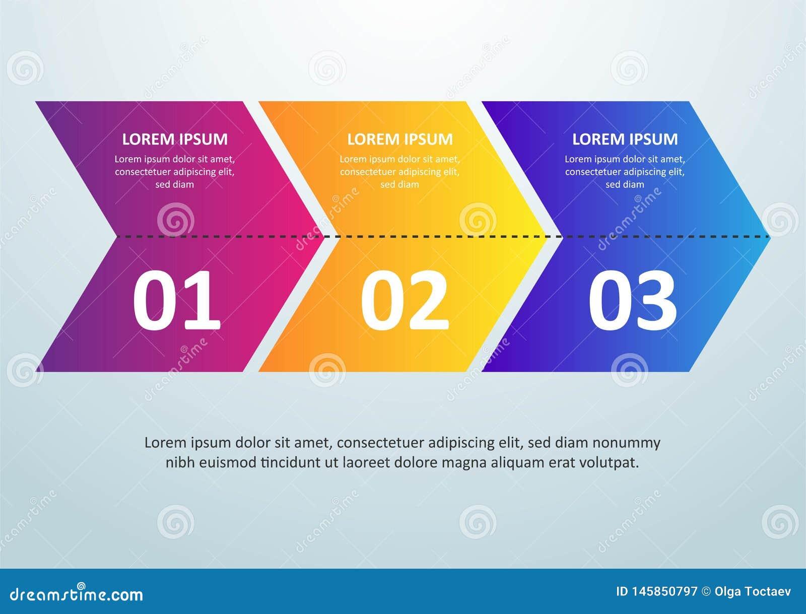 L?nea fina dise?o de Infographic del vector con los iconos y 3 opciones o pasos Infographics para el concepto del negocio puede s