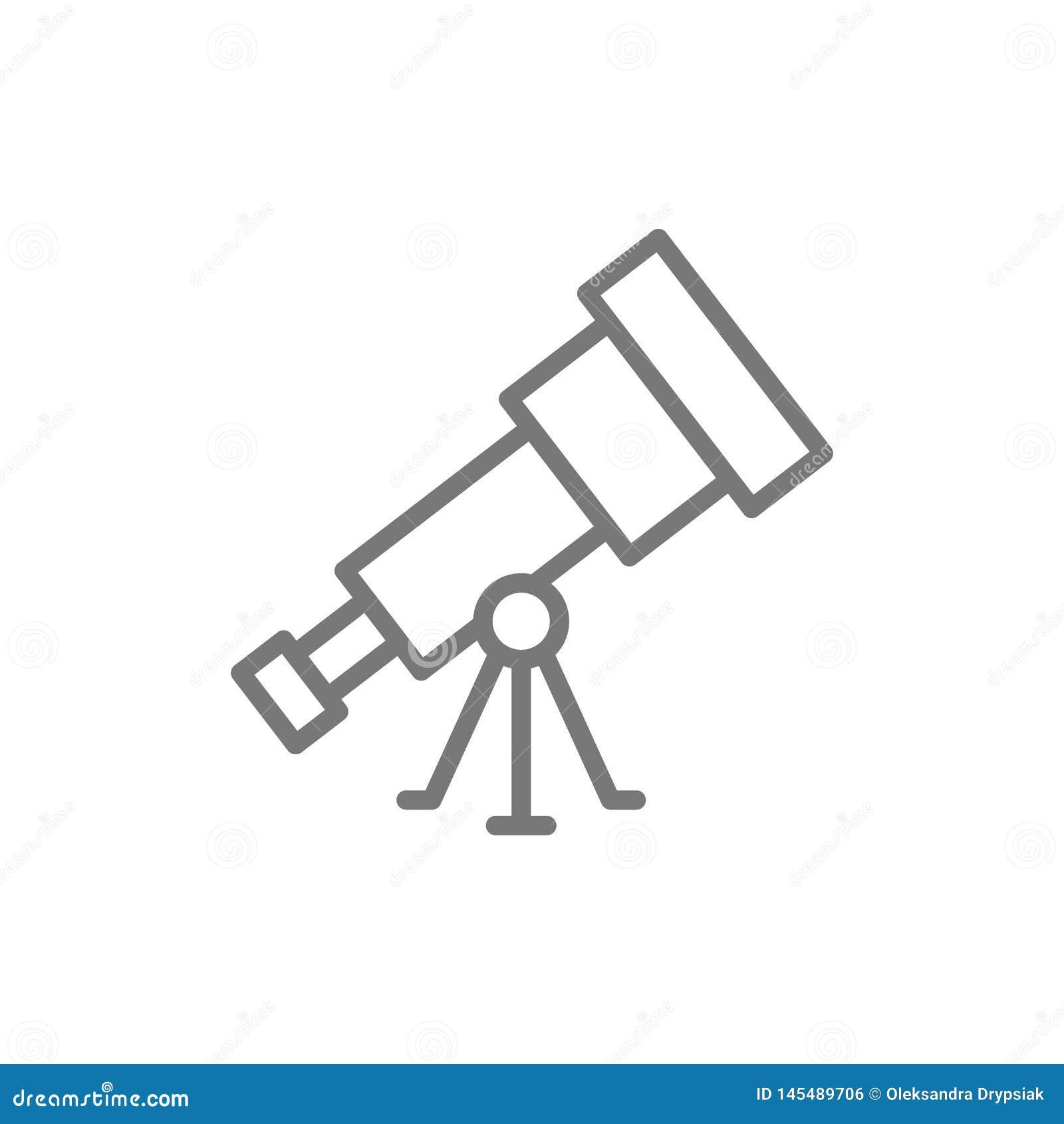 L?nea icono del telescopio