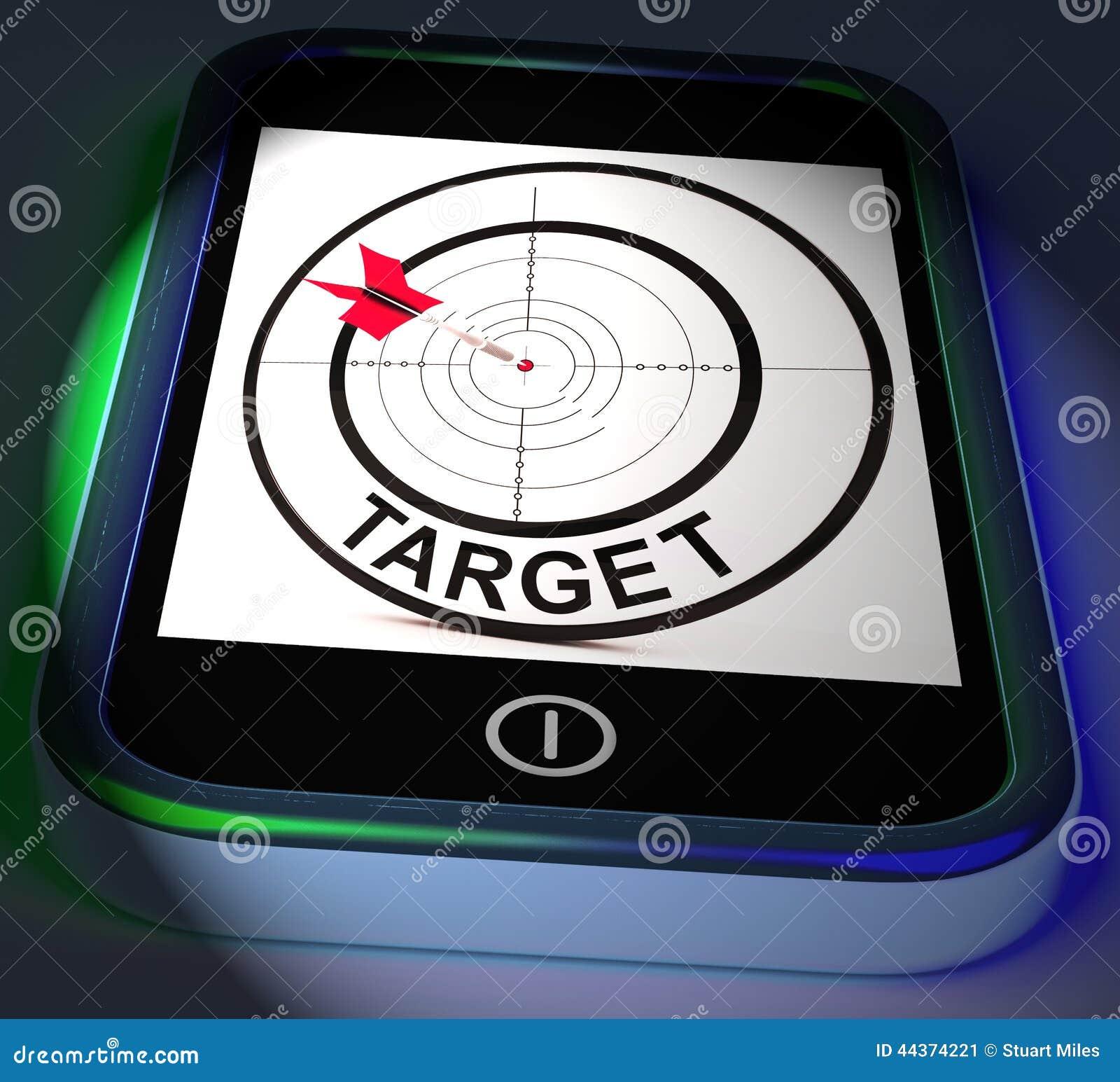 L obiettivo Smartphone visualizza gli scopi e gli obiettivi di scopi
