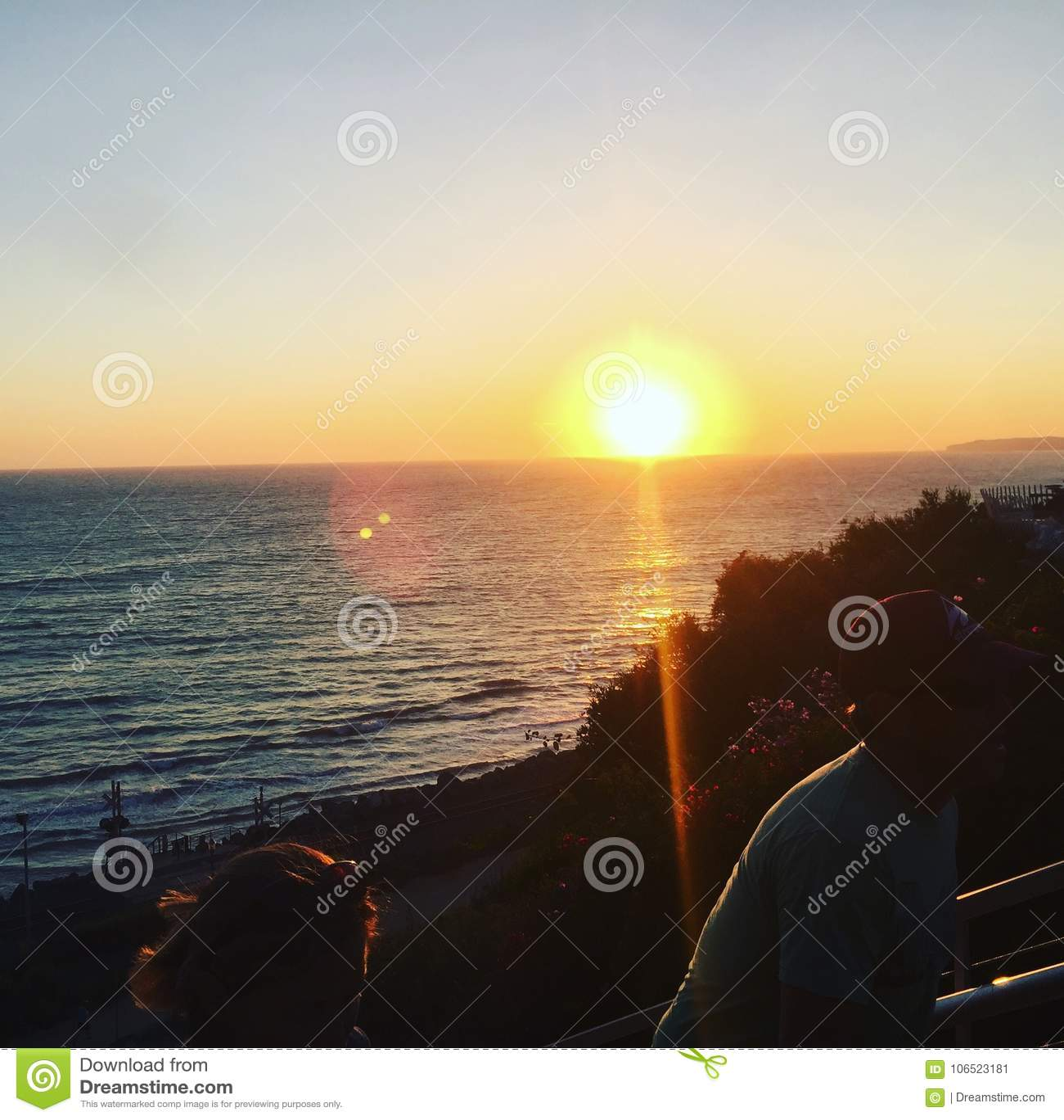 L océan Sunset