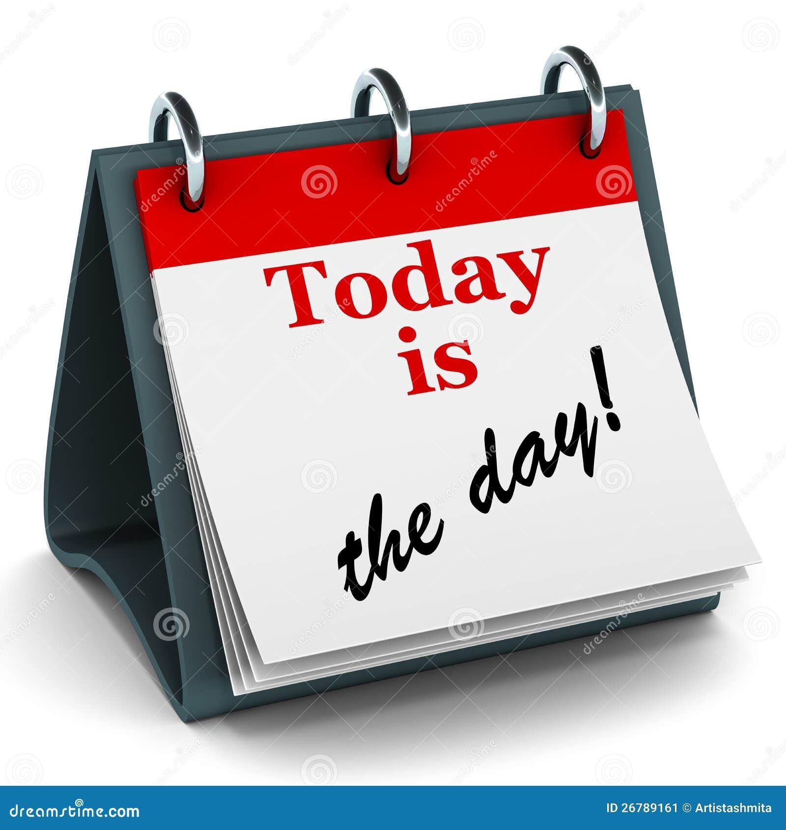 Calendario Giorno.L Oggi E Il Calendario Di Giorno Illustrazione Di Stock