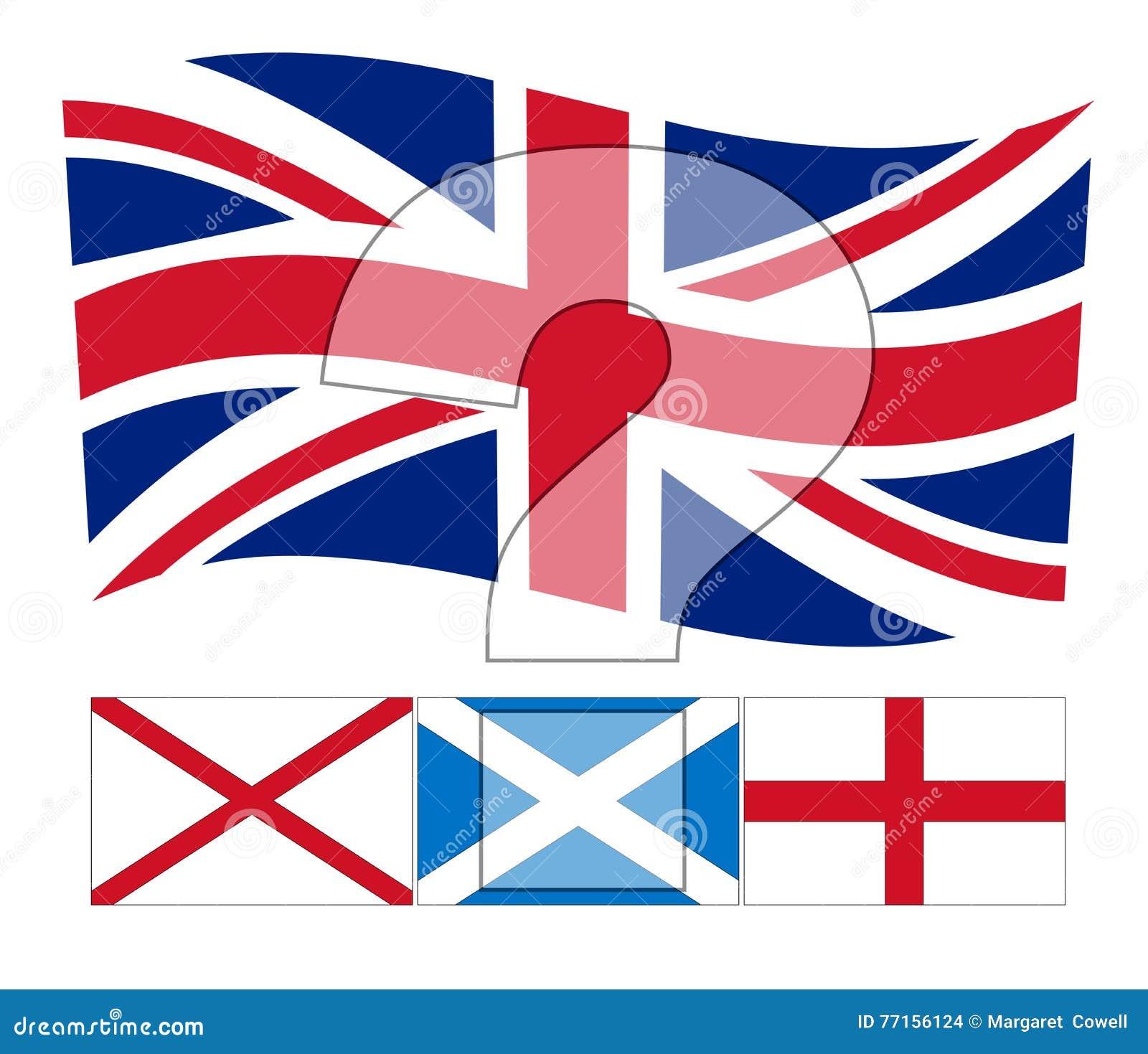 L ONU Royaume-Uni - le drapeau d Union Jack au-dessus de l Irlandais, Scottis