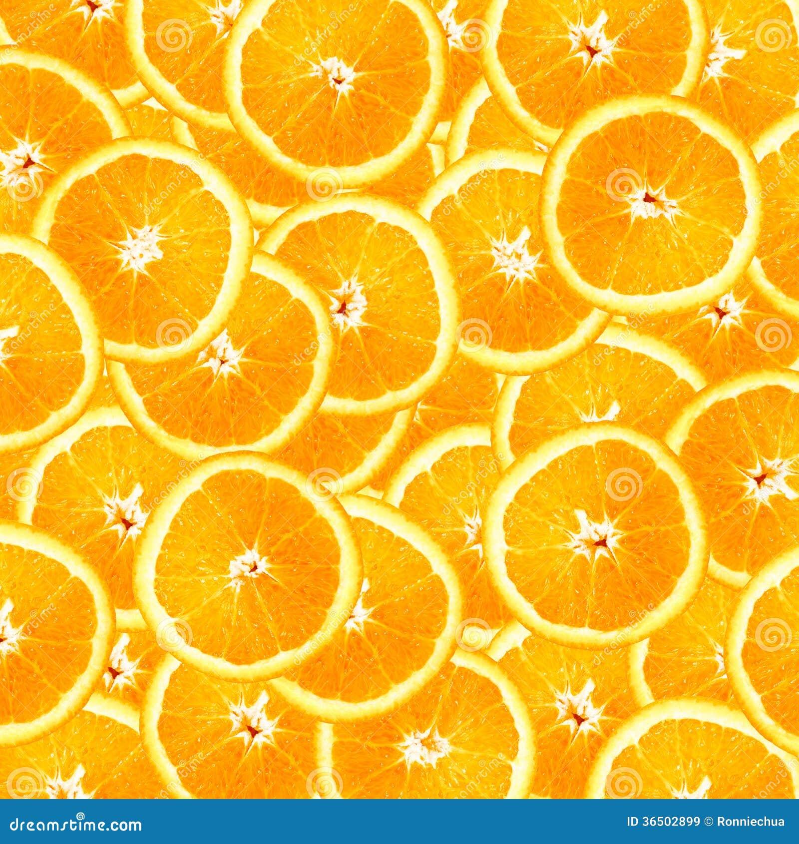 L orange découpe le fond en tranches