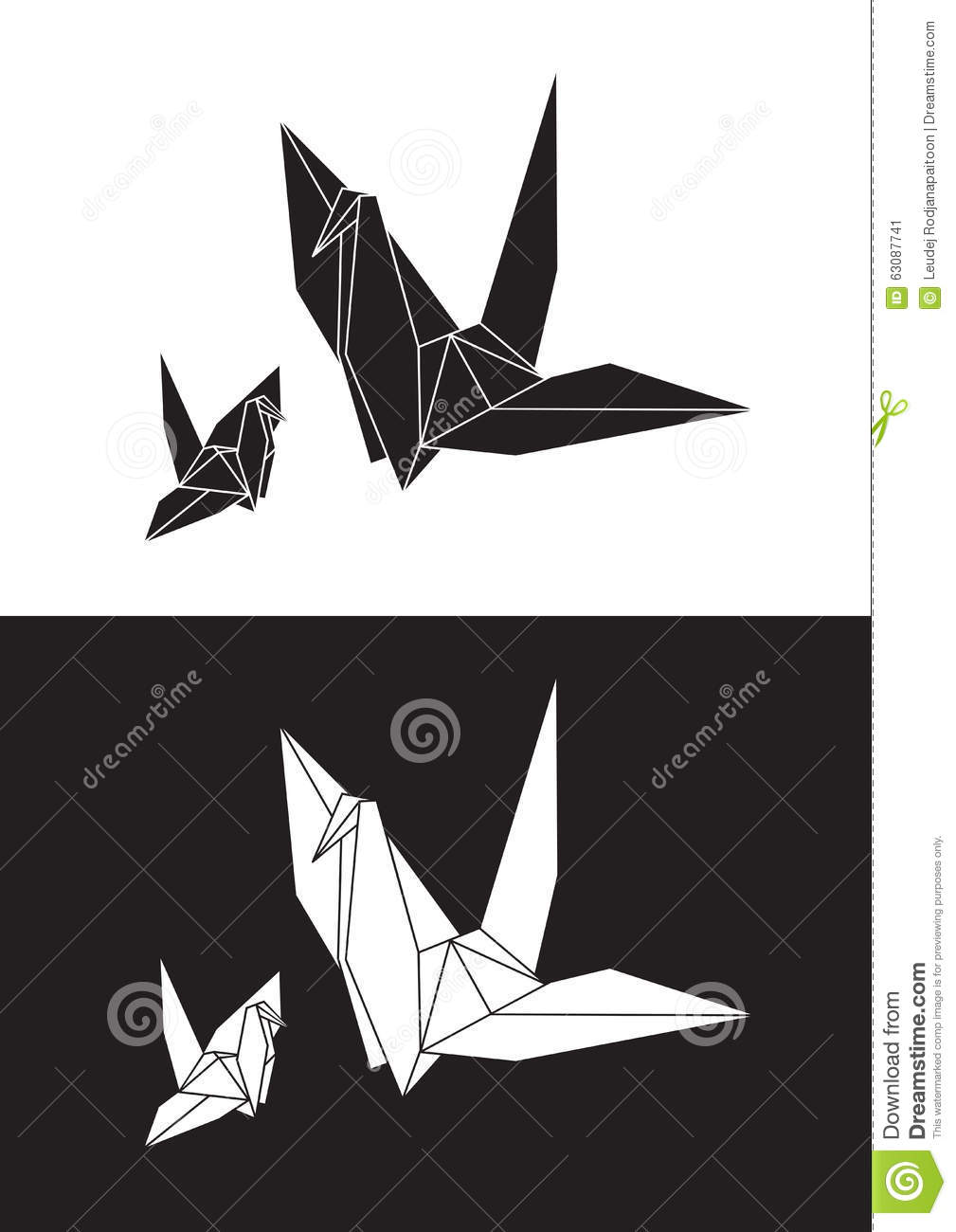 Download L'origami Blanc Tend Le Cou, Oiseau, Illustration Courante De Paper†«  Illustration Stock - Illustration du oiseau, clavette: 63087741