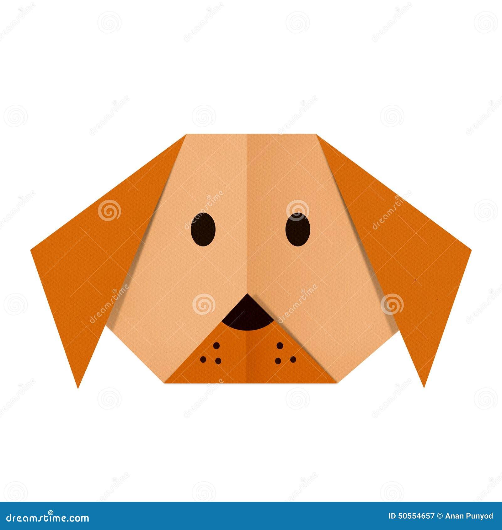 L 39 origami empaquette un chien le visage illustration - Origami para todos ...