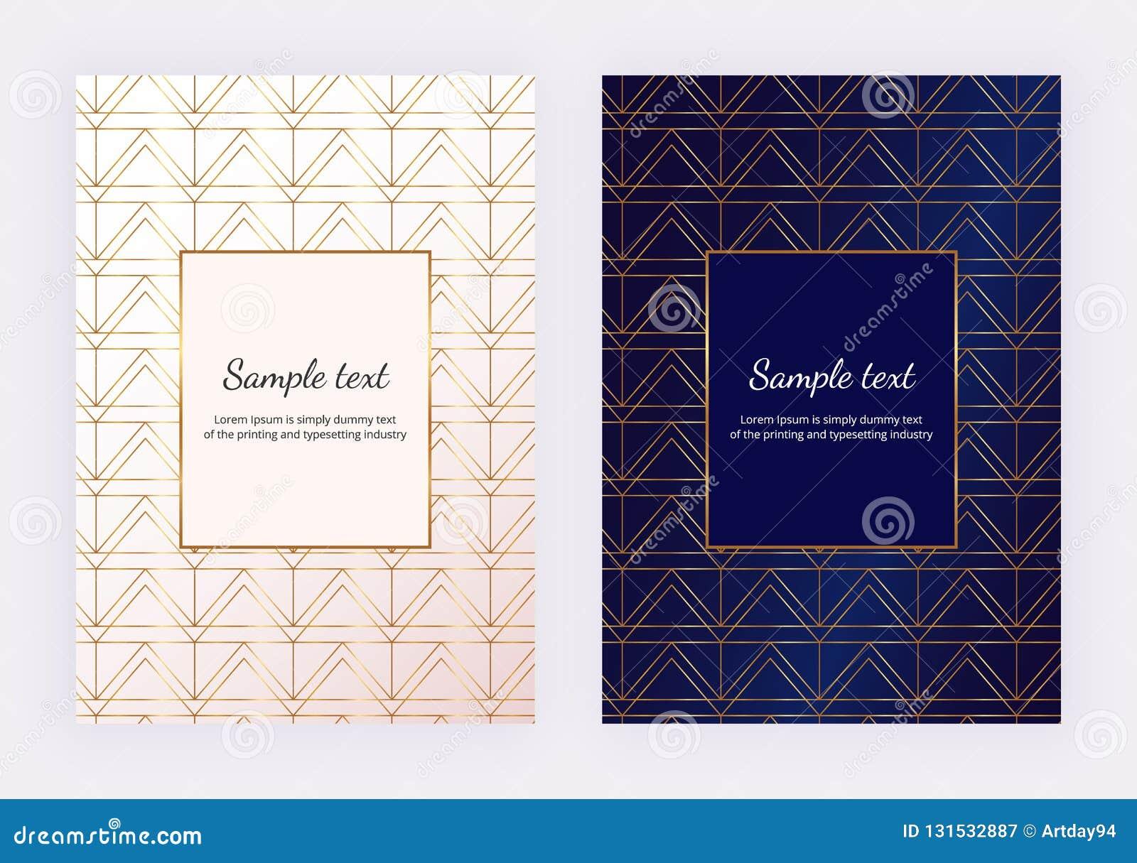 L oro è aumentato linee geometriche sulla struttura di marmo bianca Progettazione minimalista Fondo moderno per l invito, carta,