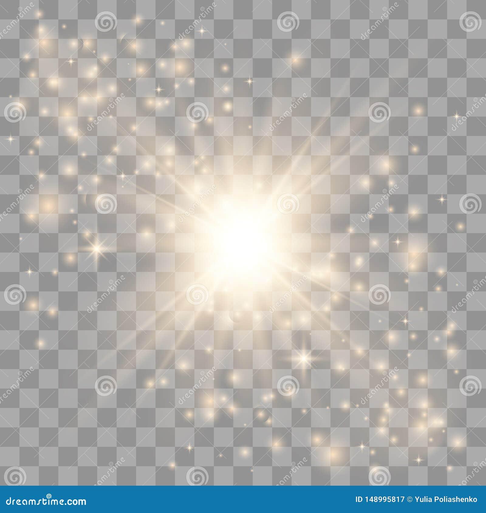 L oro emette luce effetto della luce