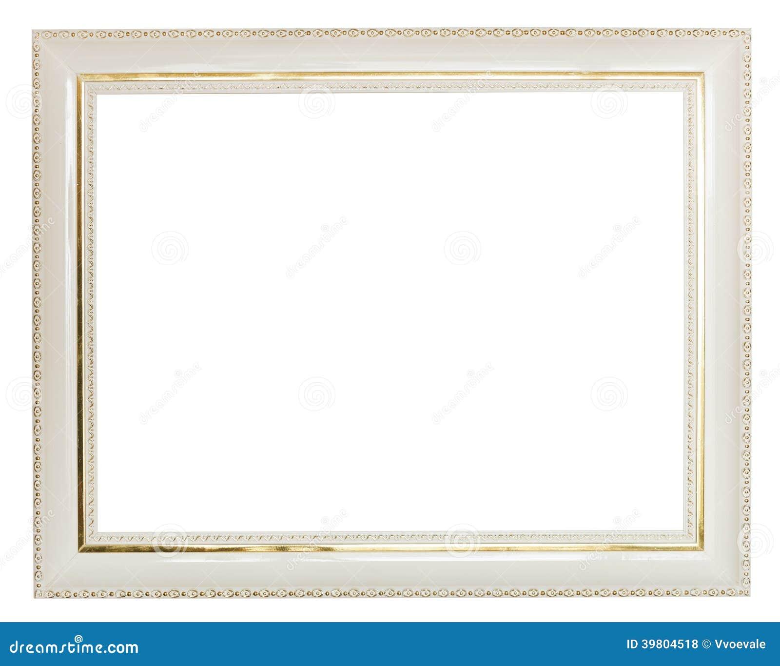 l 39 oro ha decorato l 39 ampia cornice di legno bianca