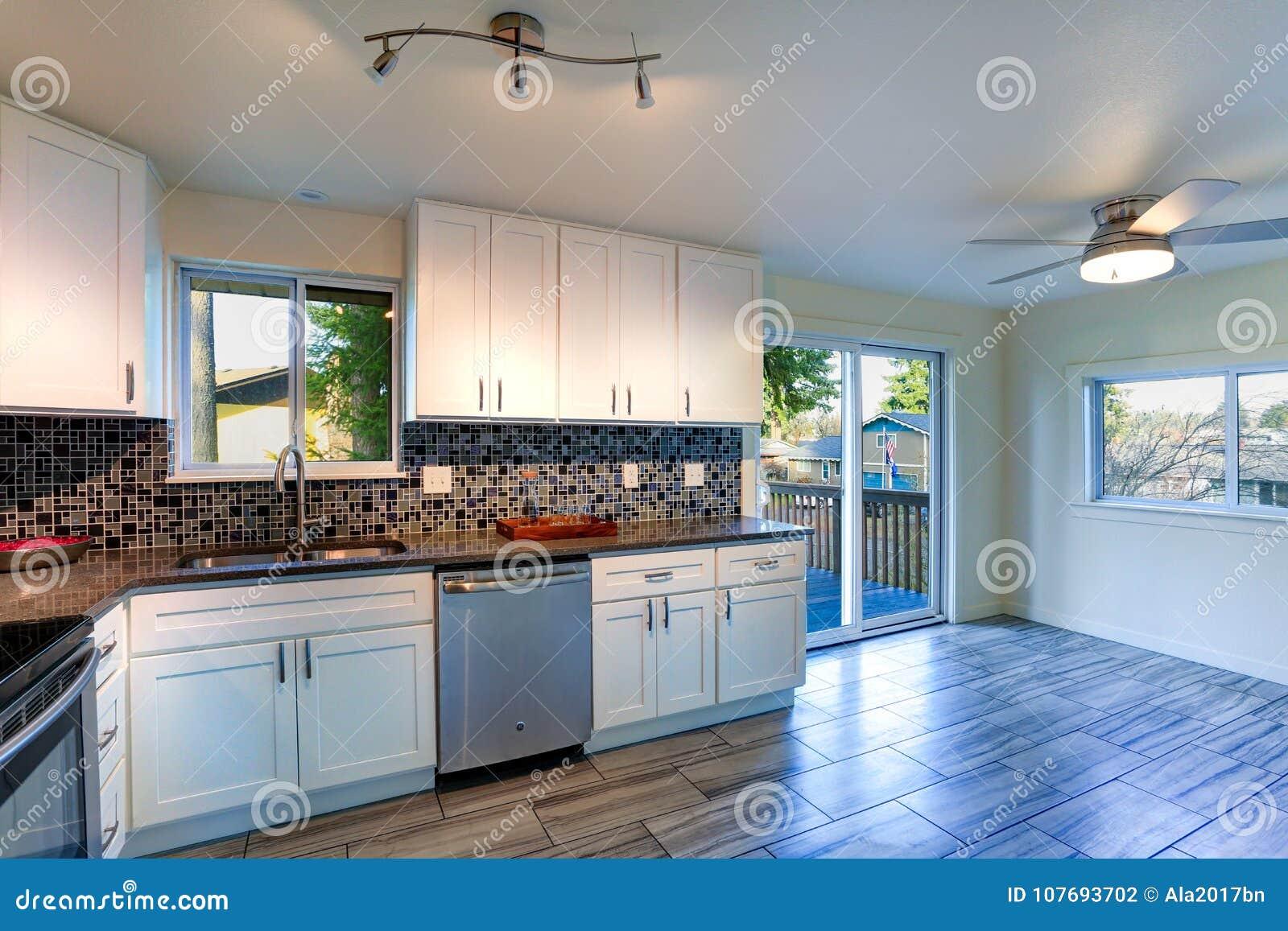 L Shape Kitchen Room Design Stock Photo Image Of Bright Architecture 107693702