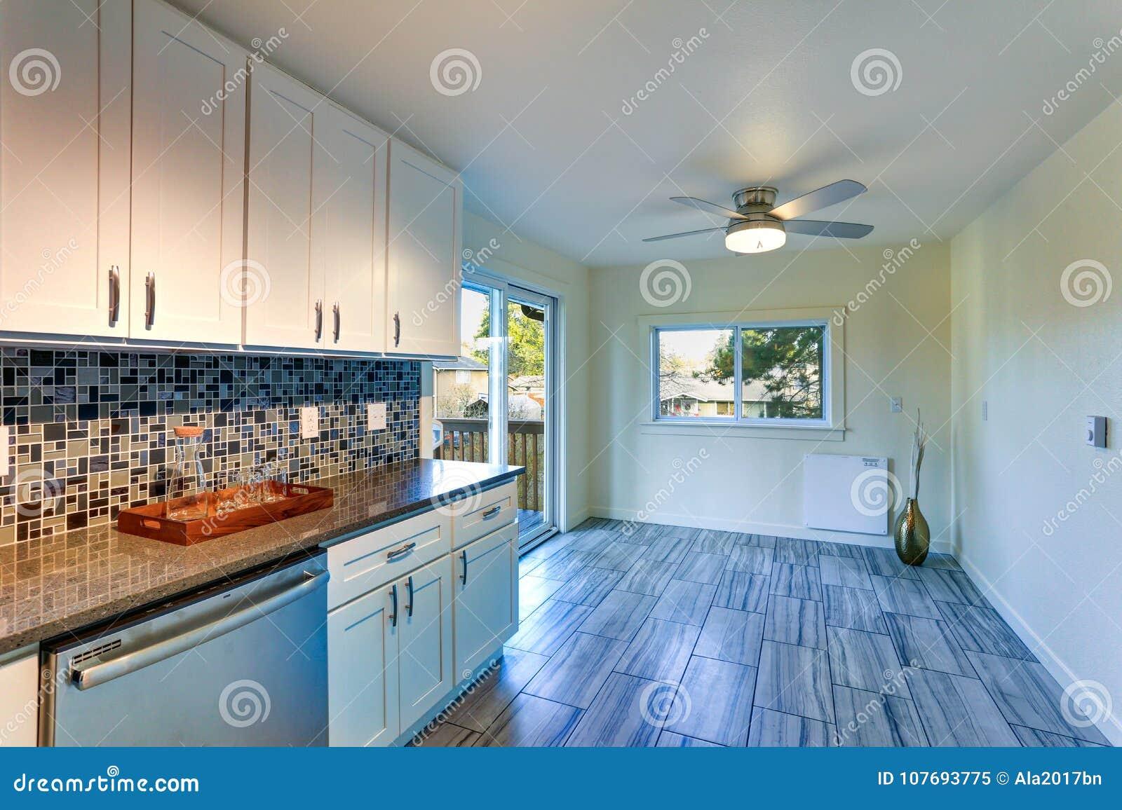 L-shape Kitchen Room Design Stock Image - Image of estate, granite ...
