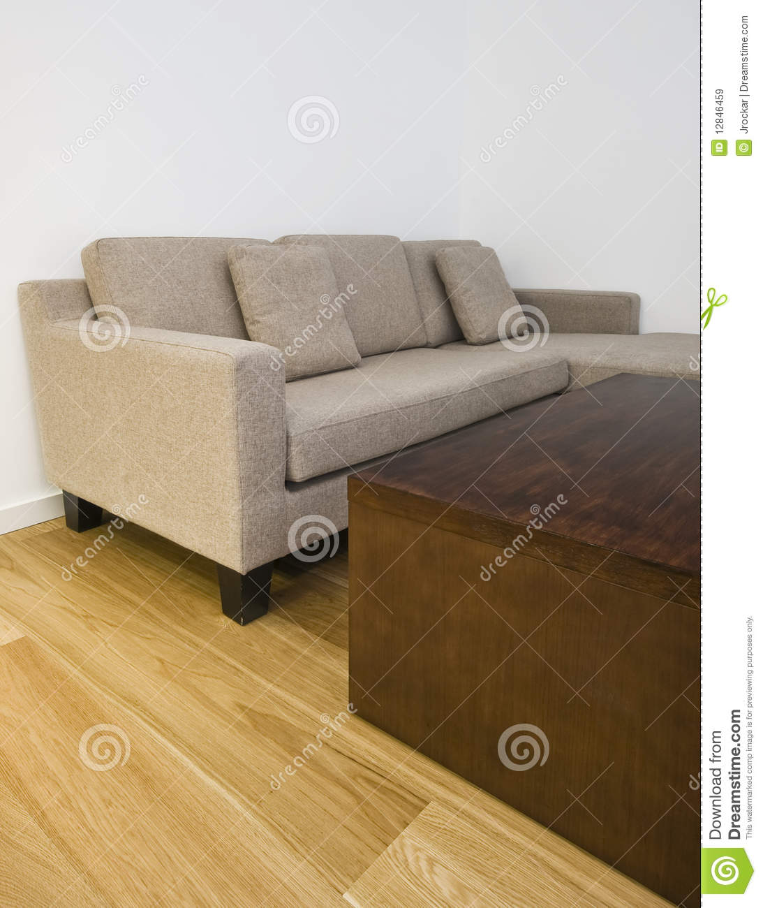 l shape sofa and coffee table stock image image 12846459. Black Bedroom Furniture Sets. Home Design Ideas