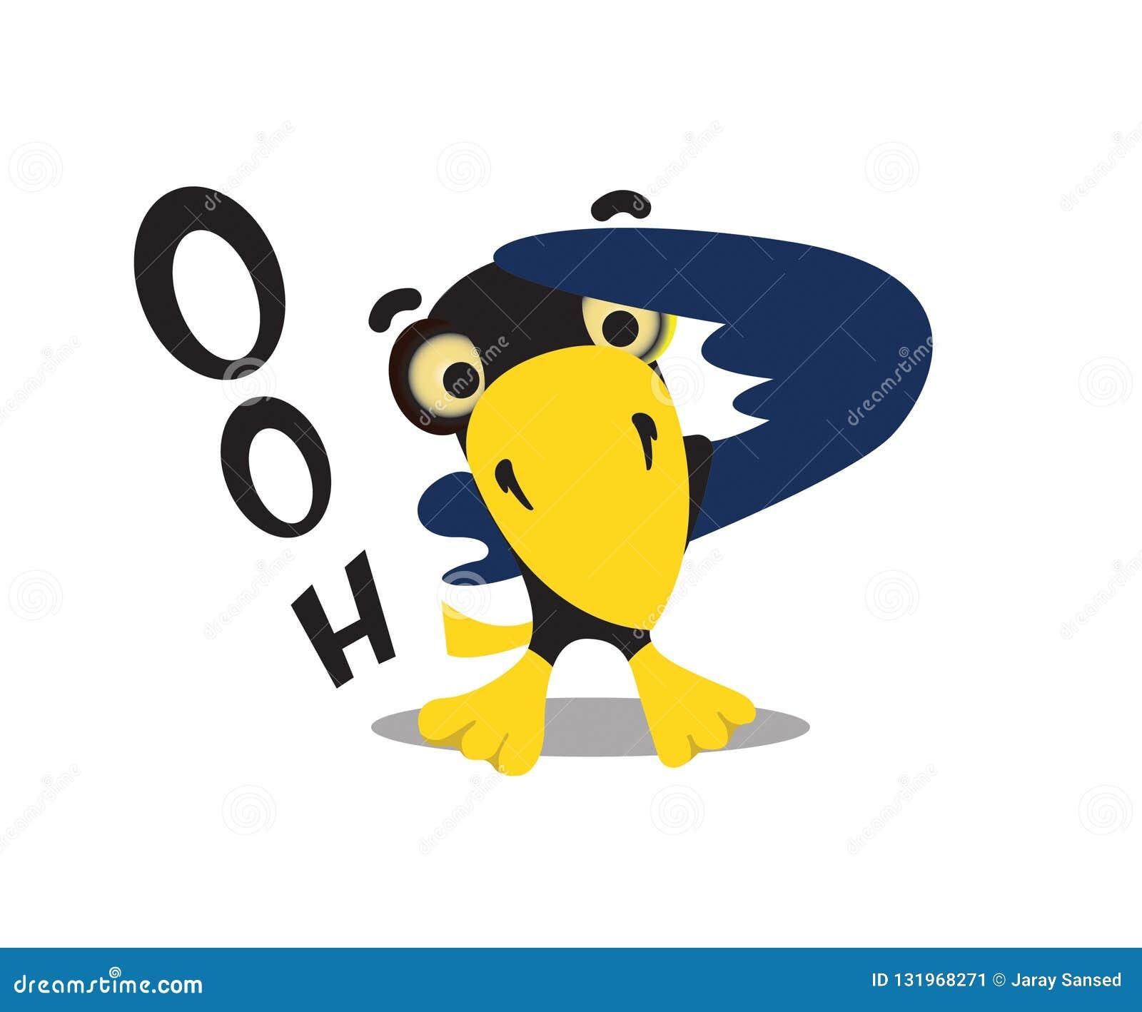 L uccello nero con il collare giallo è stato fissante