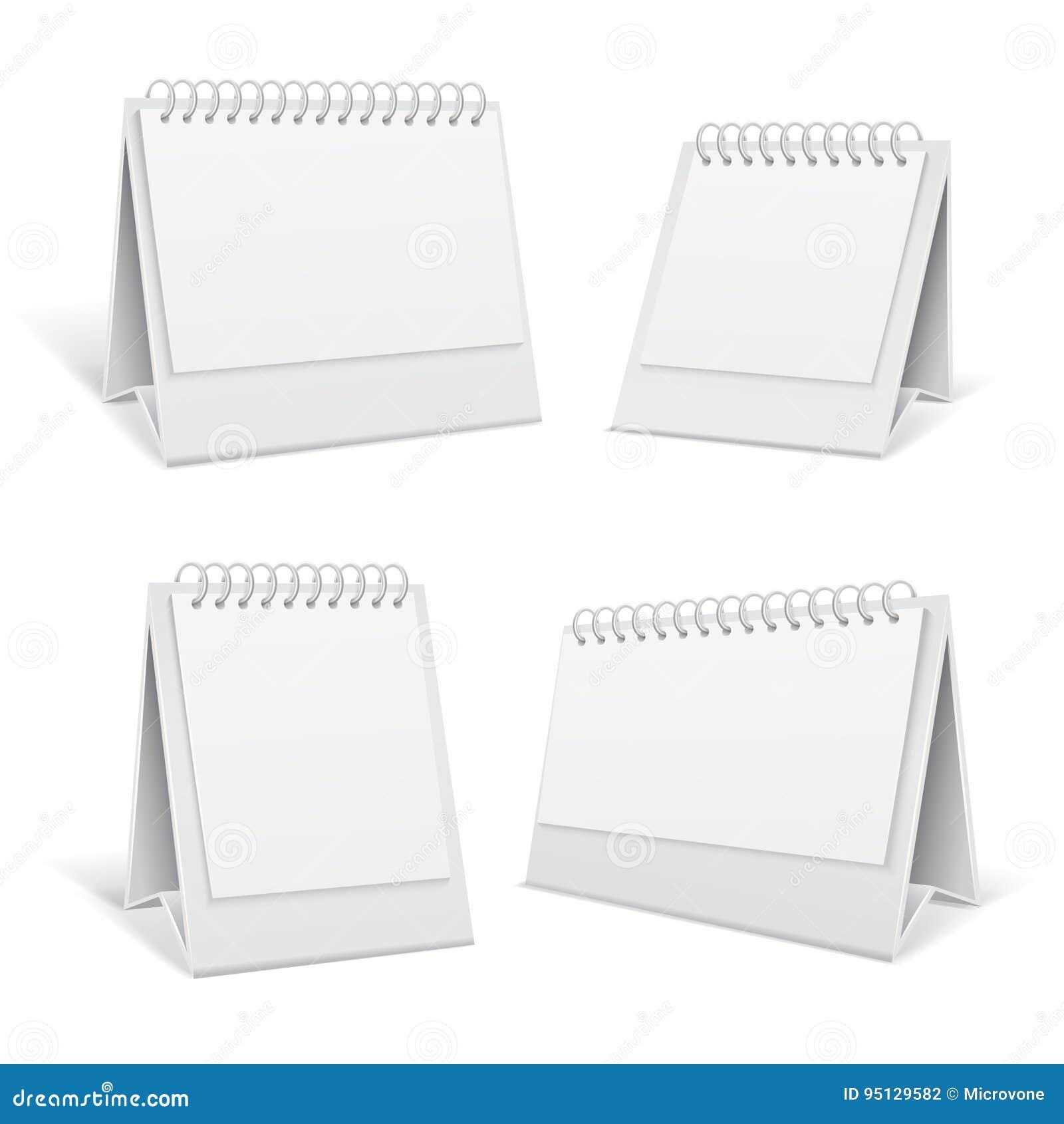 L ufficio bianco di spirale 3d della tabella in bianco regista l illustrazione di vettore