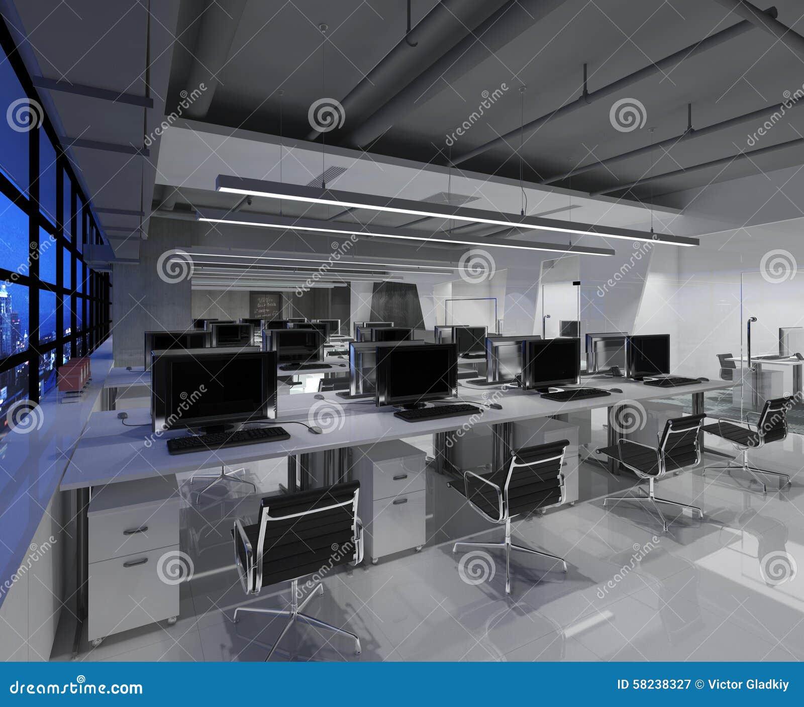 L 39 ufficio fotorealistico rende illustrazione di stock for L ufficio